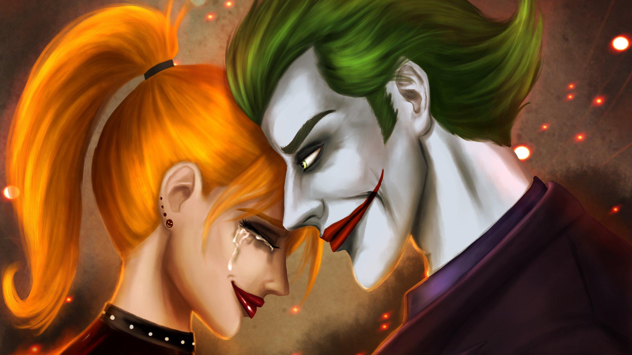 Fondos de pantalla El guasón y Harley Quinn Fanart