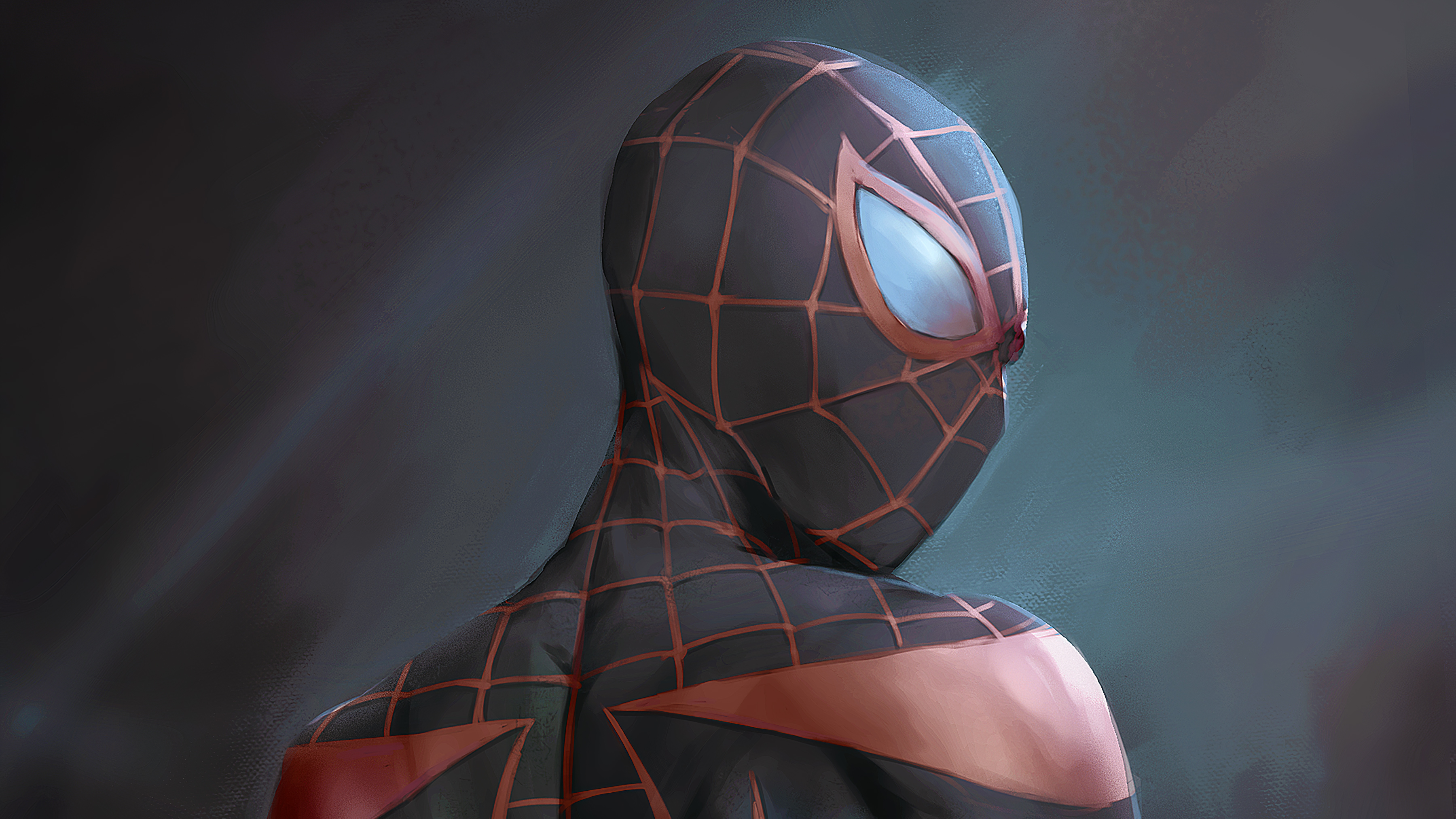 Wallpaper Spiderman with black suit