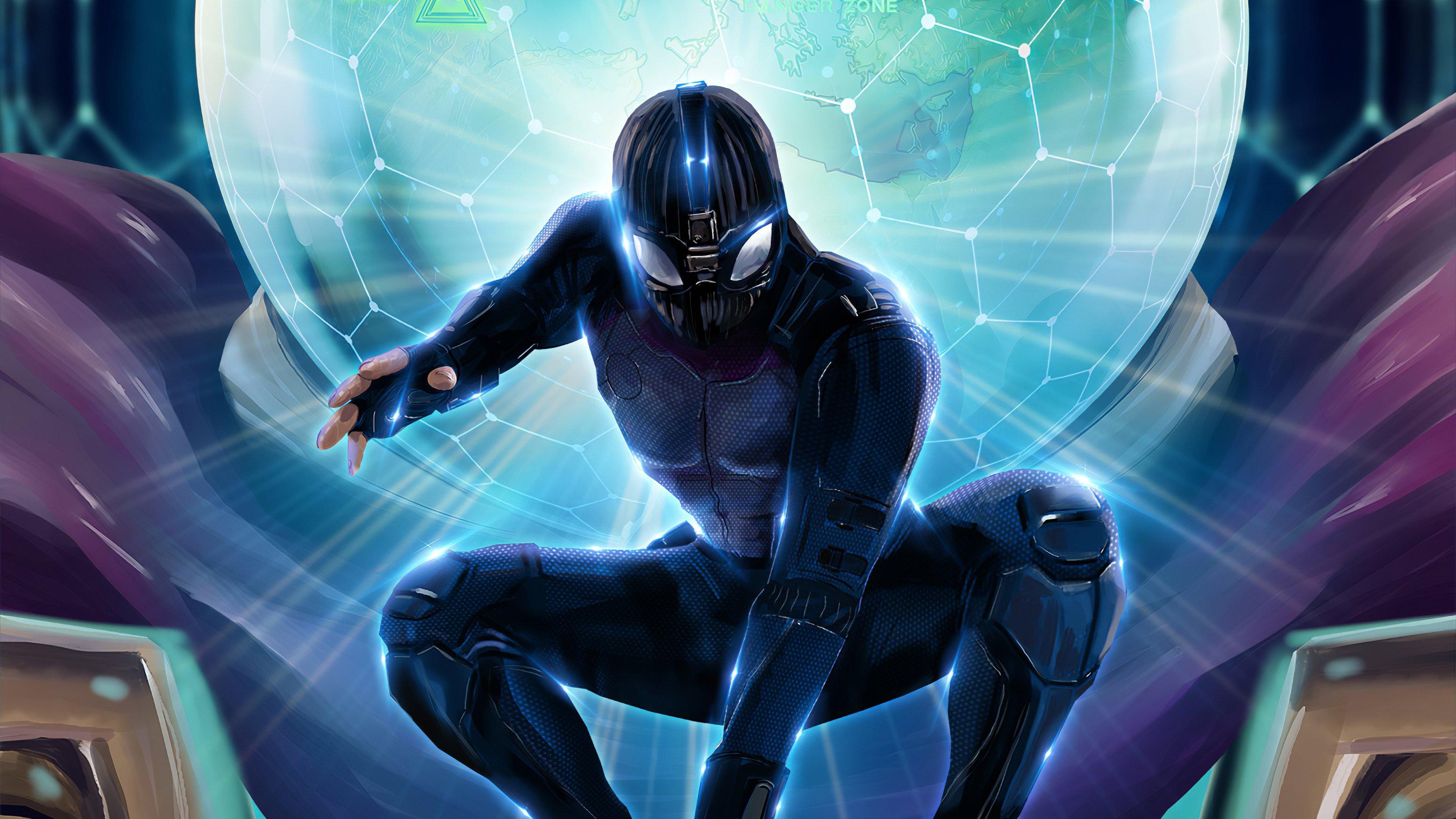 Wallpaper Spiderman Black suit Fanart