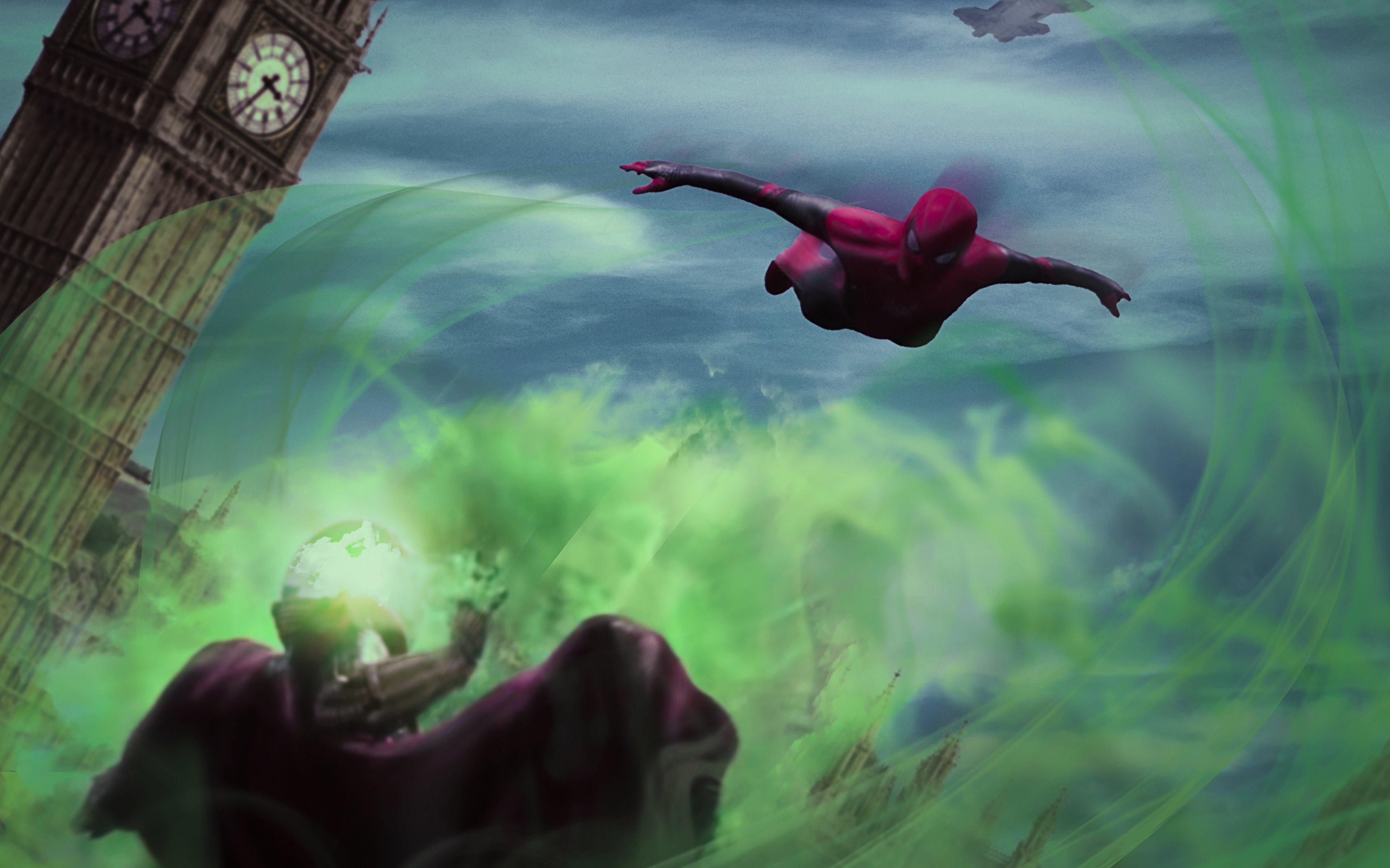 Fondos de pantalla El hombre araña contra Mysterio