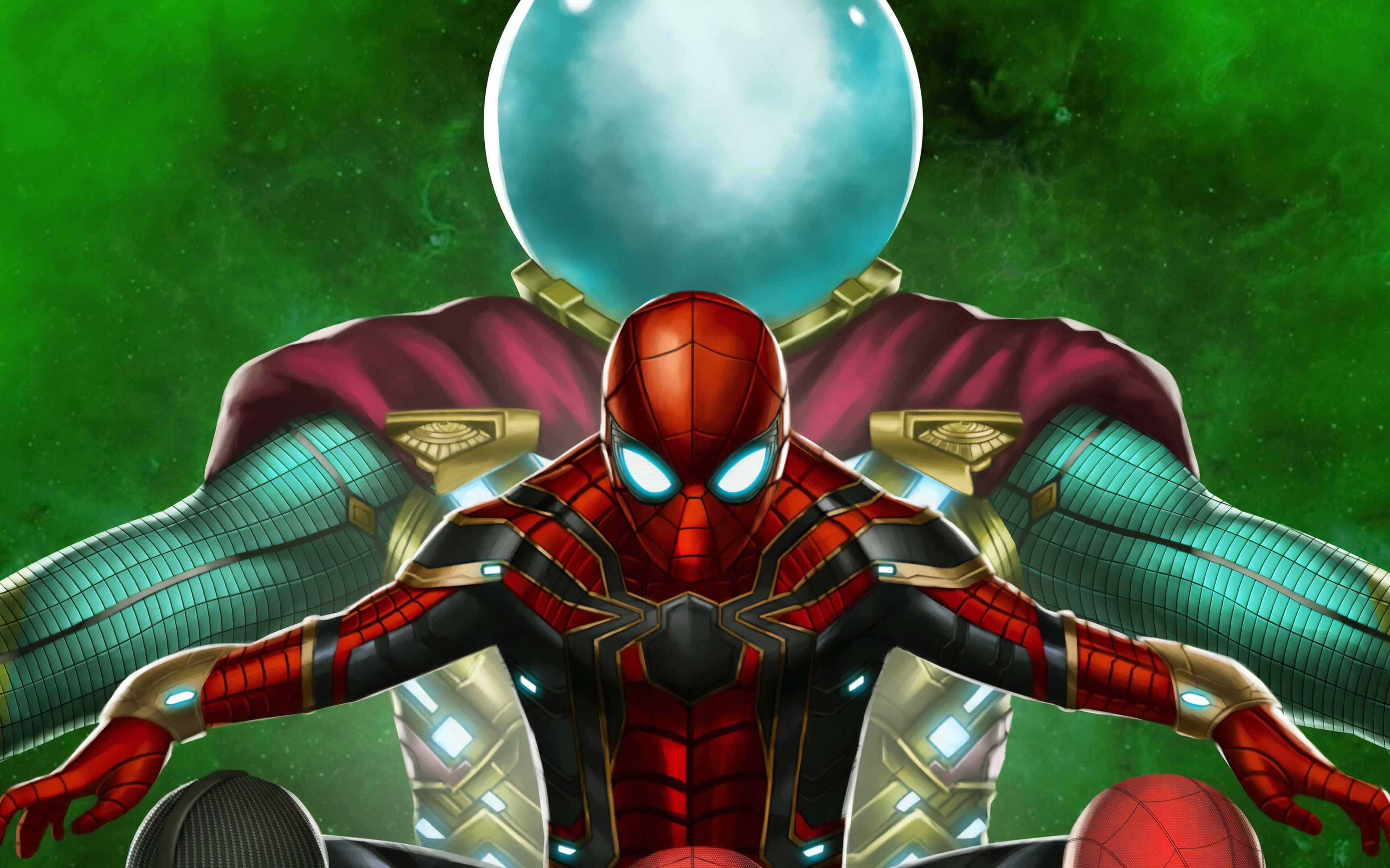 Fondos de pantalla El hombre araña contra Mysterio Fanart