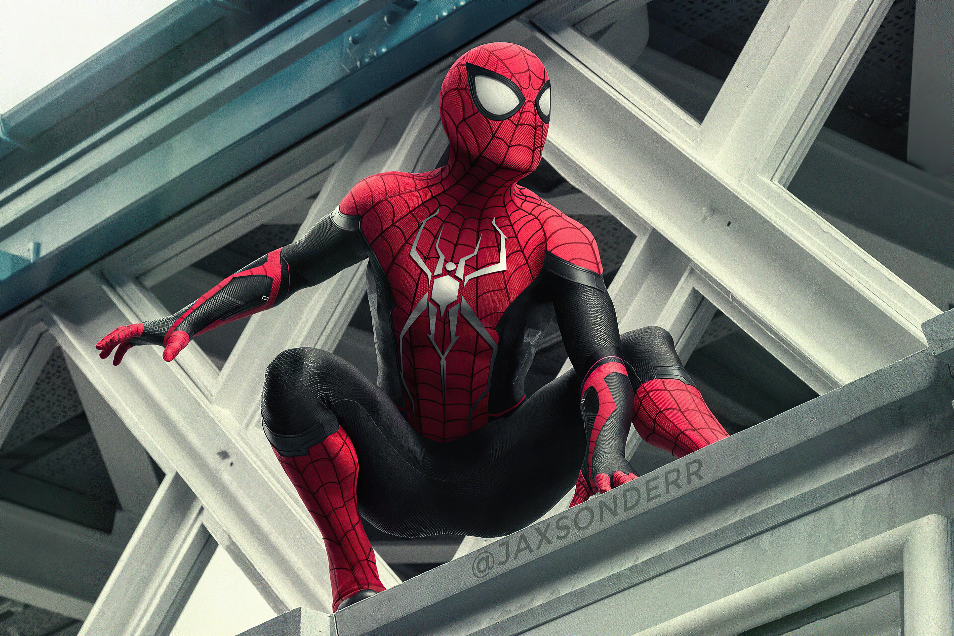 Fondos de pantalla El hombre araña en edificio