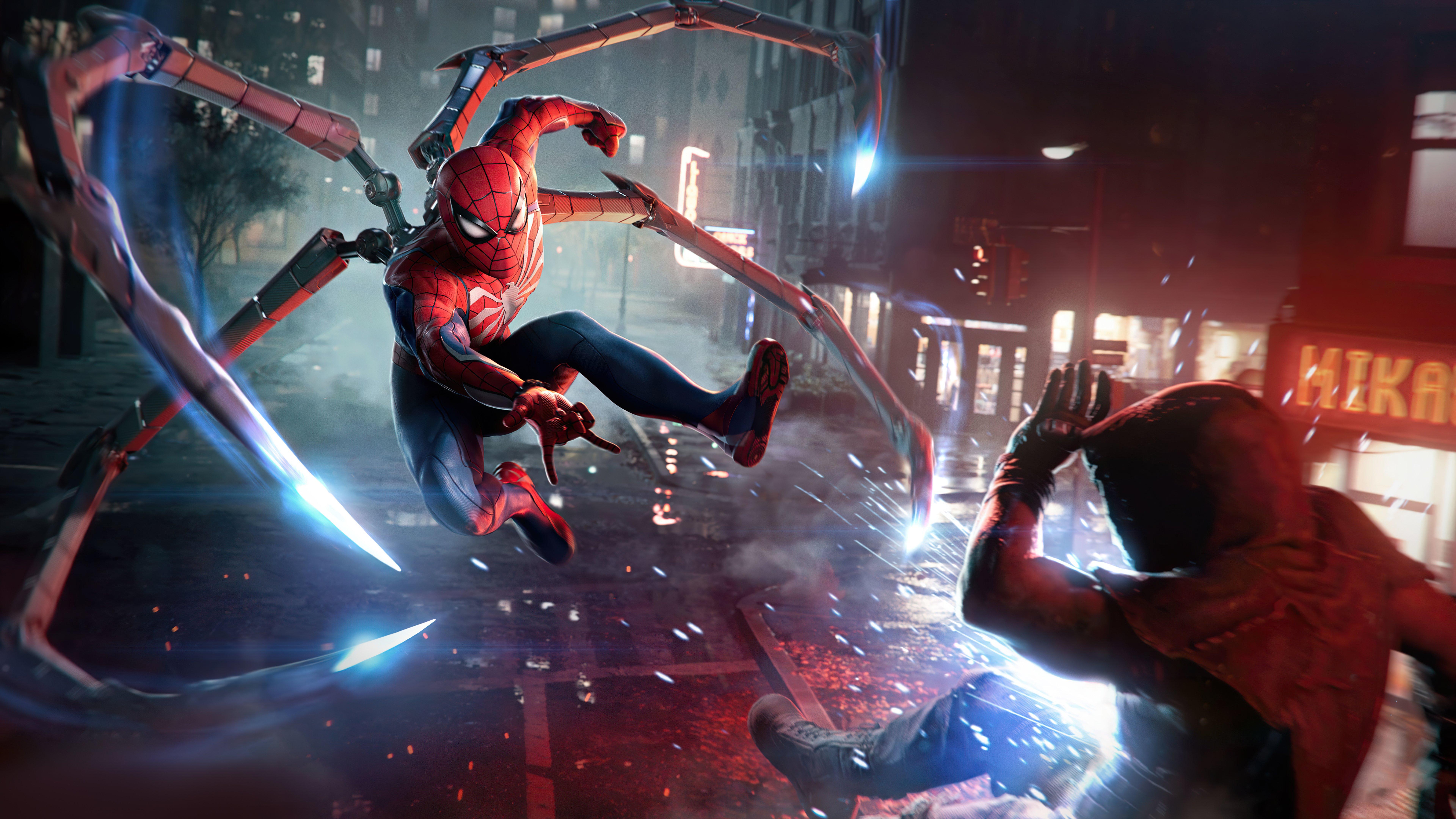 Fondos de pantalla El hombre araña en pelea