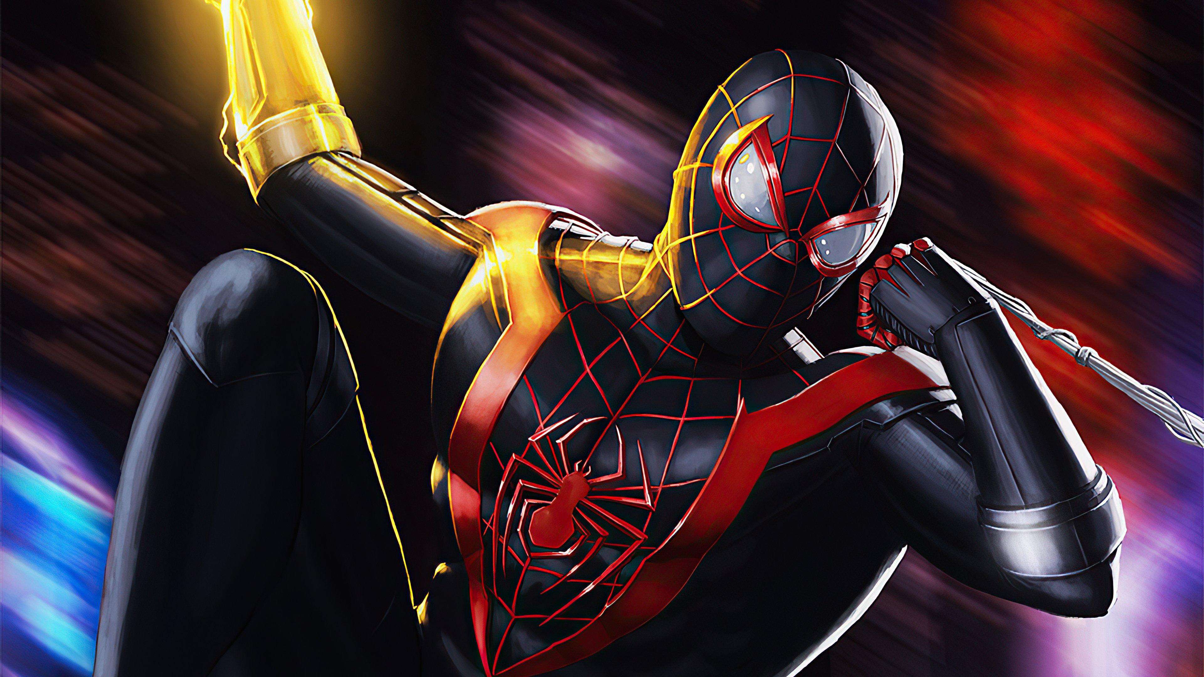 Fondos de pantalla El hombre araña negro Artwork
