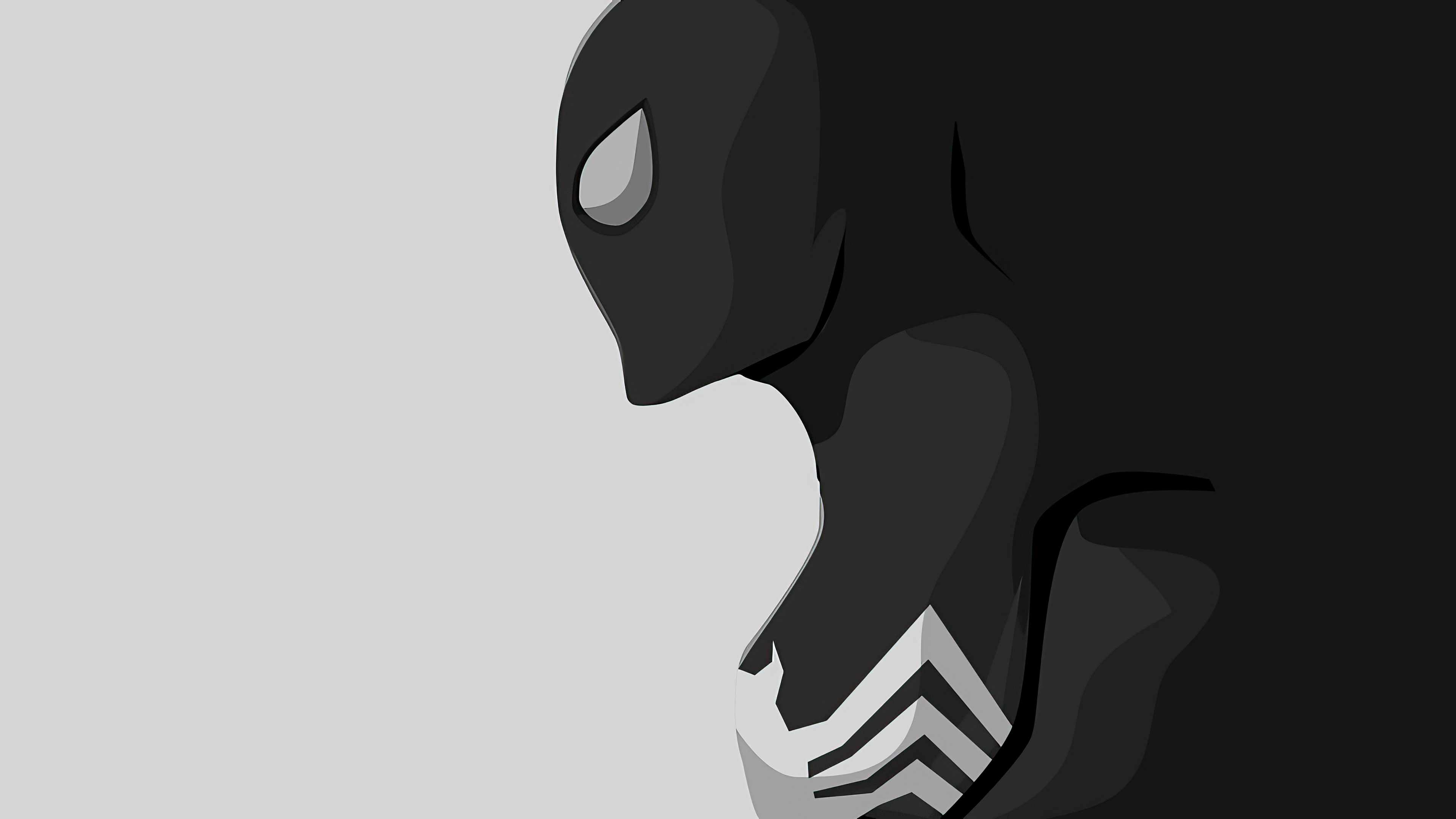 Wallpaper Black Spiderman minimalist style
