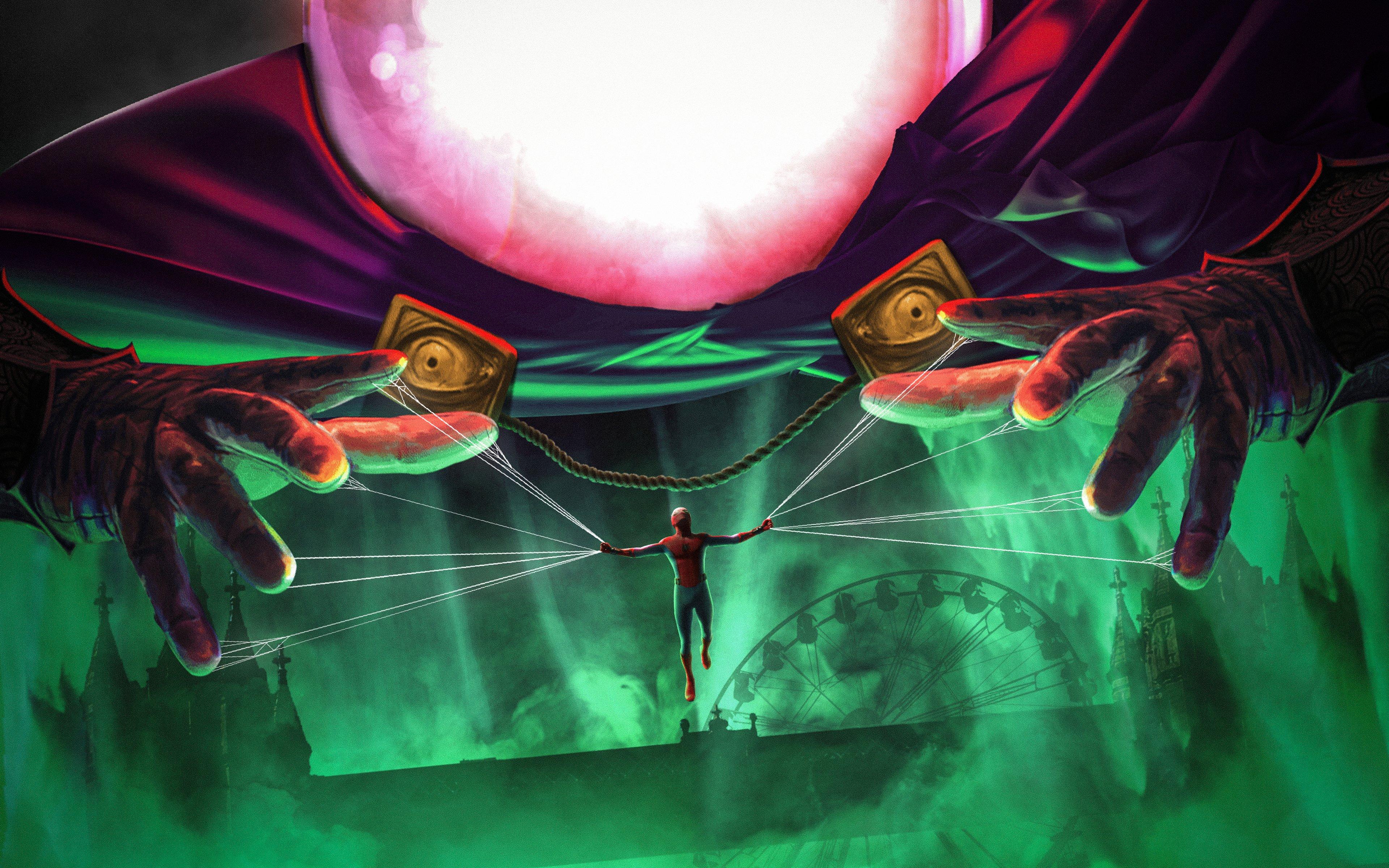 Fondos de pantalla El hombre araña y Mysterio