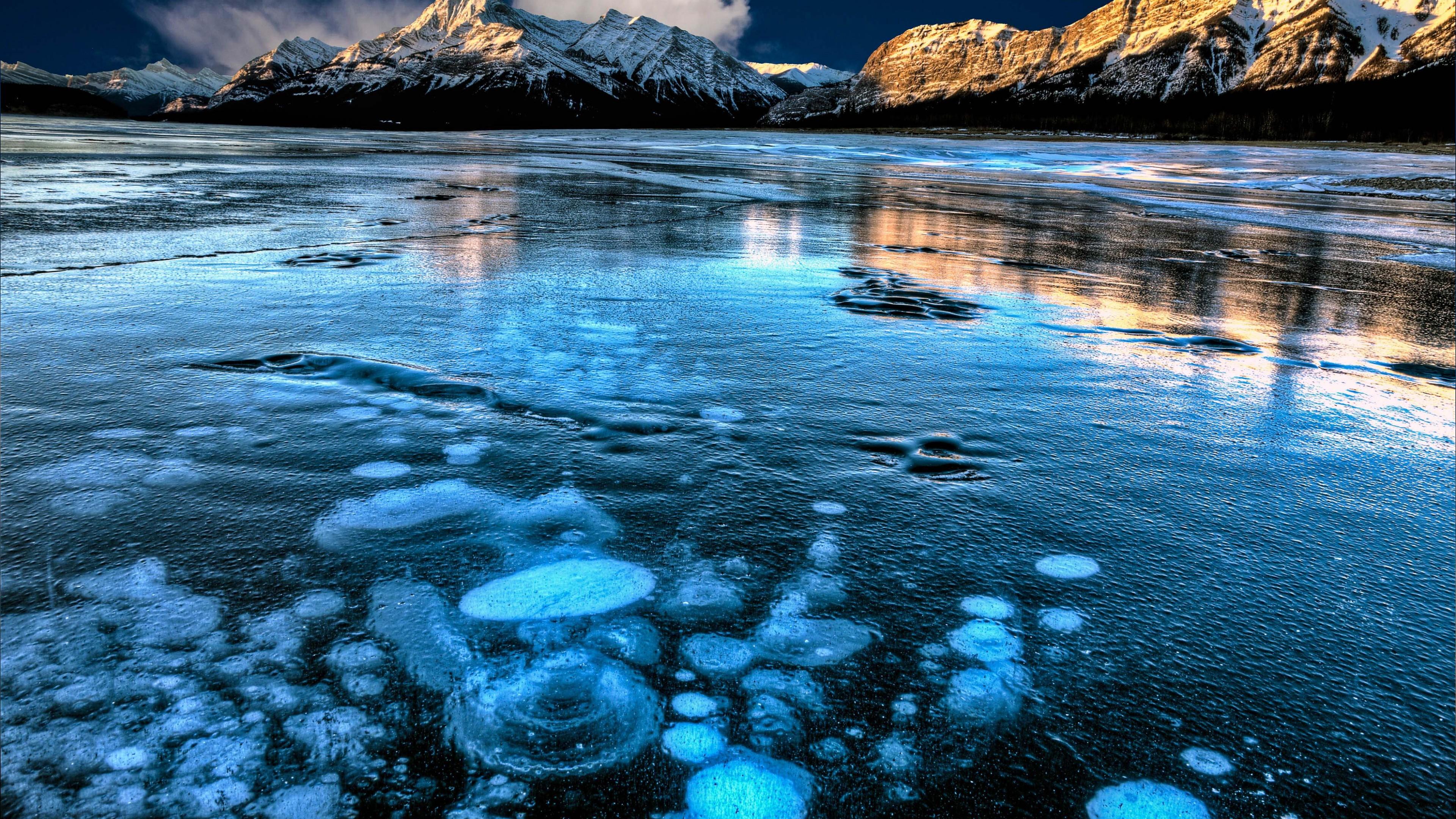Fondos de pantalla El lago Abraham en Canadá