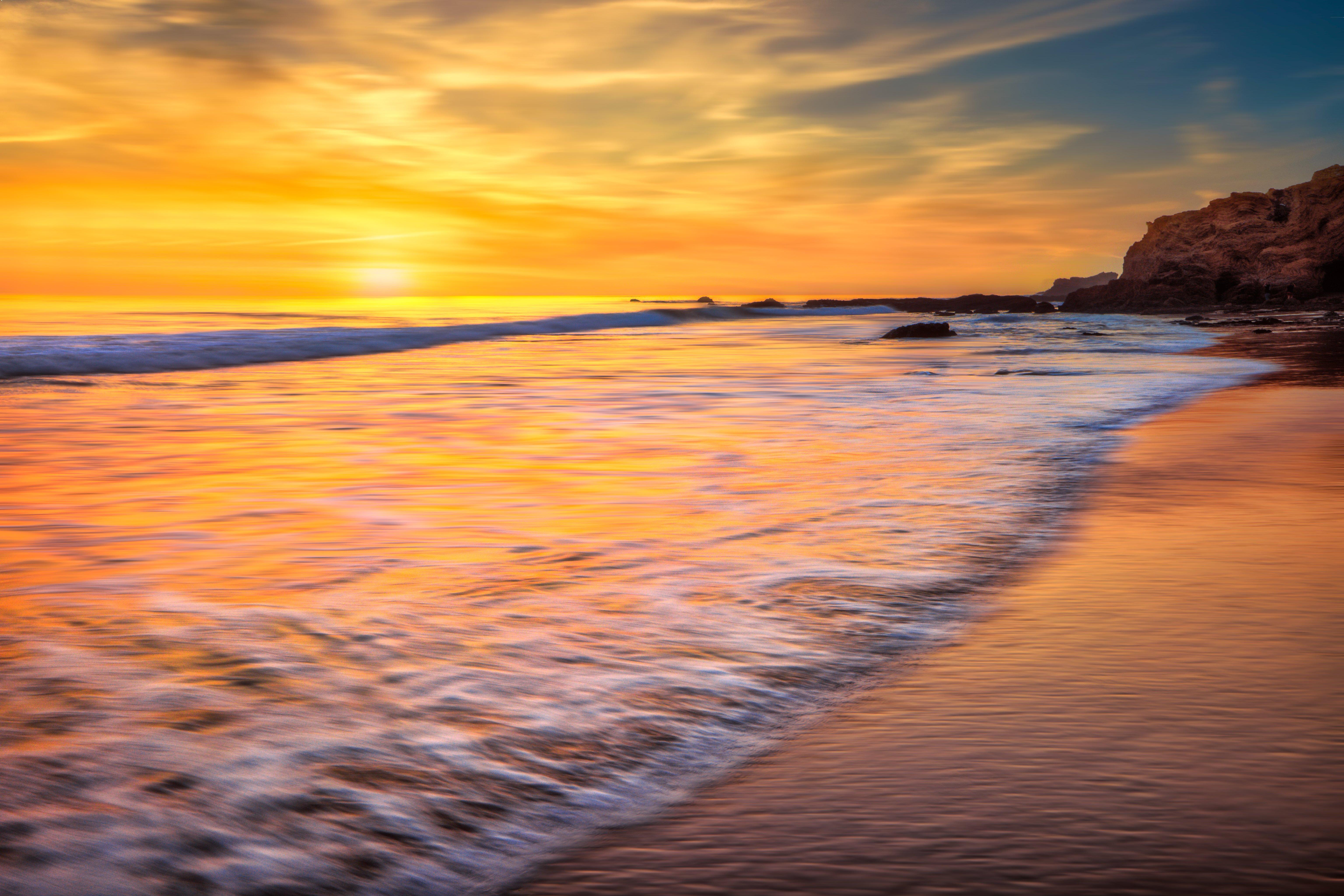 Fondos de pantalla El oceano de California al atardecer