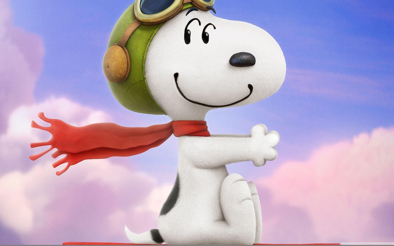 Wallpaper The Pilot Snoopy