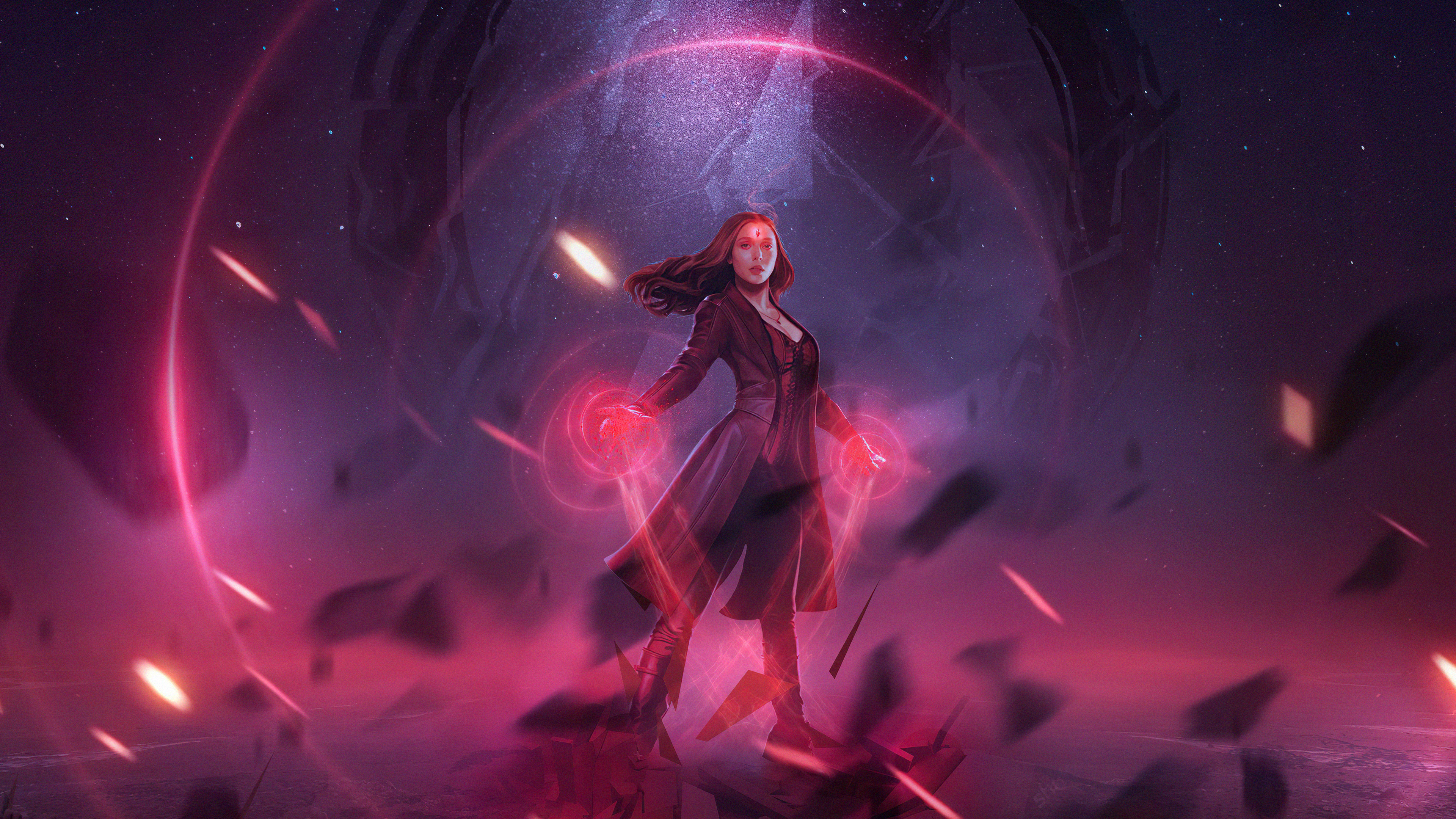 Wallpaper Power of Scarlet Witch