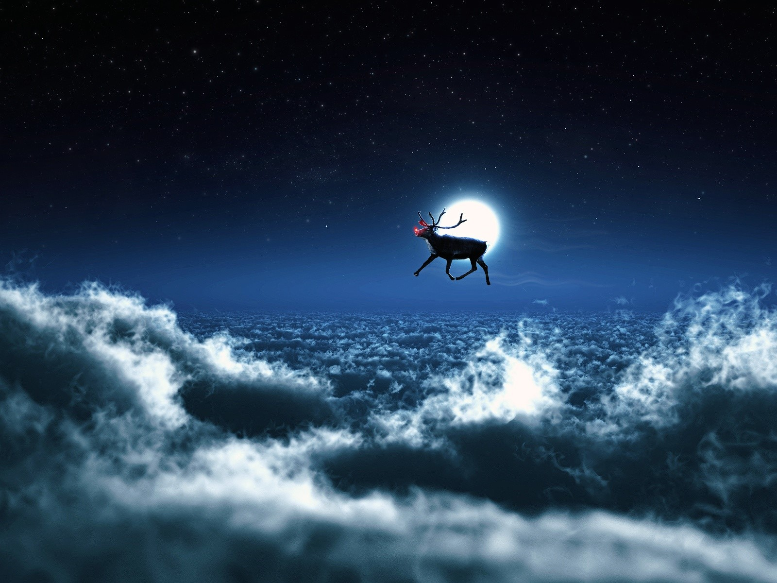 Wallpaper Santa's reindeer