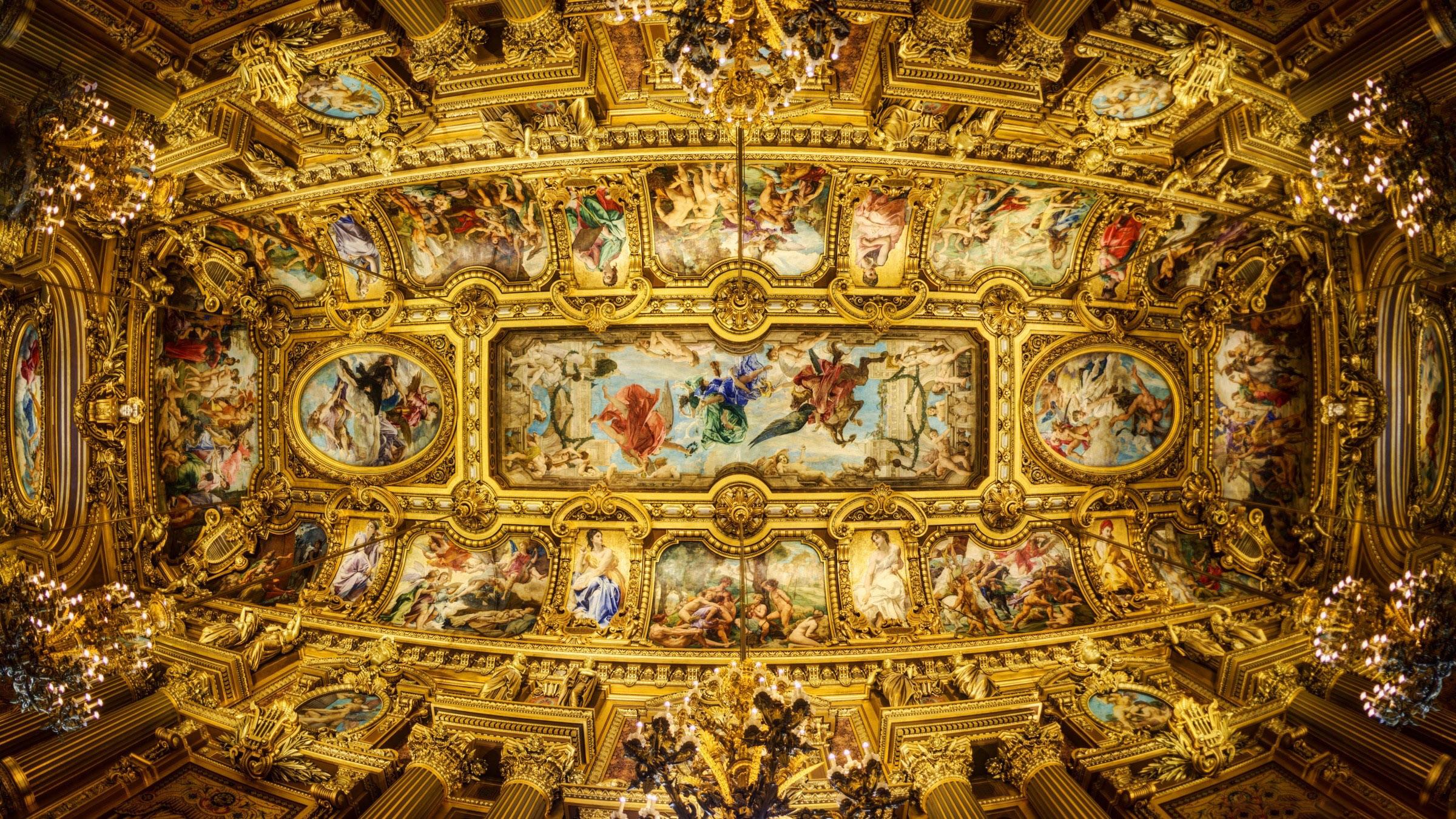Wallpaper The roof of the Opera Garnier Grand