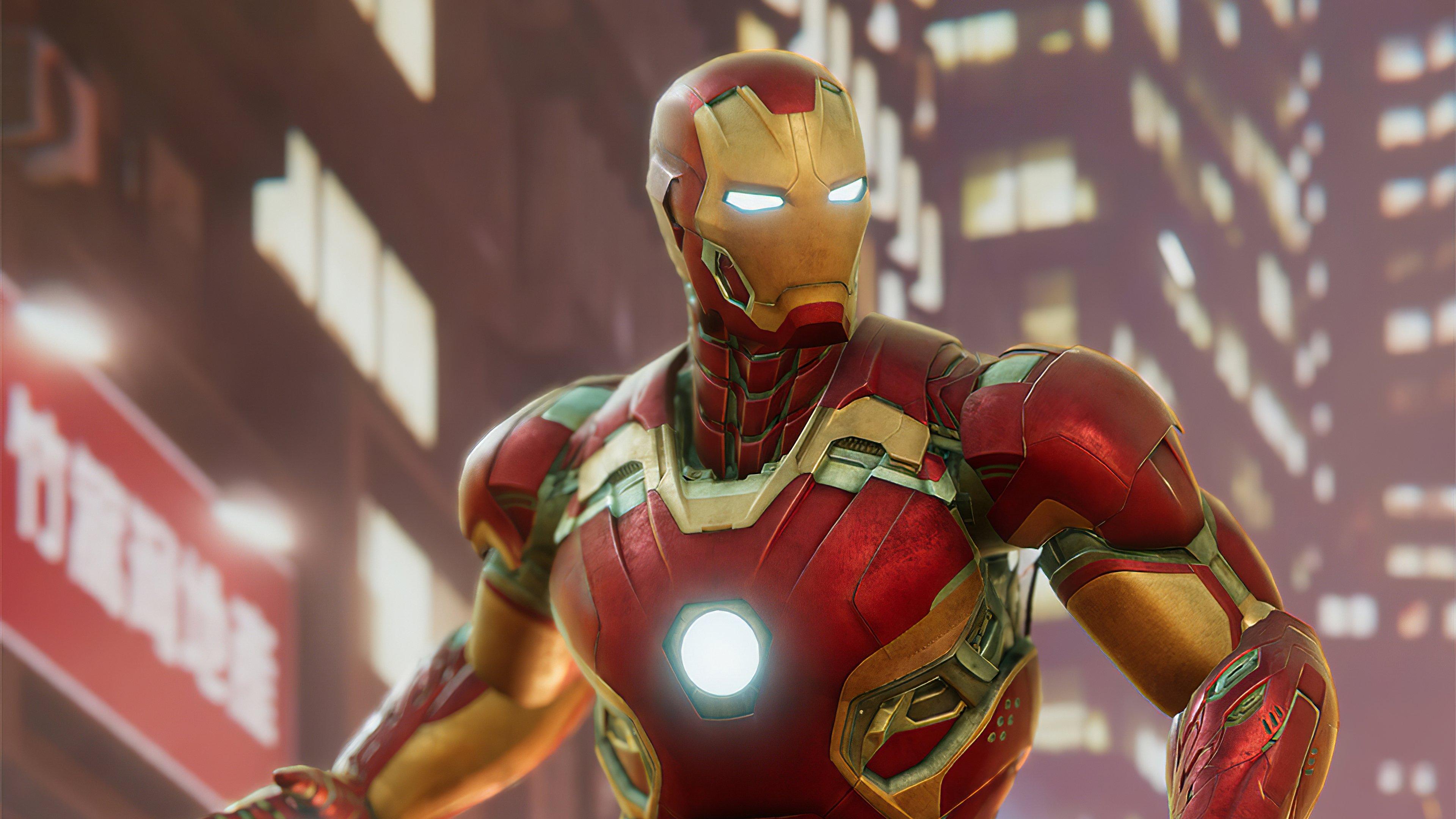 Wallpaper Iron Man Suit