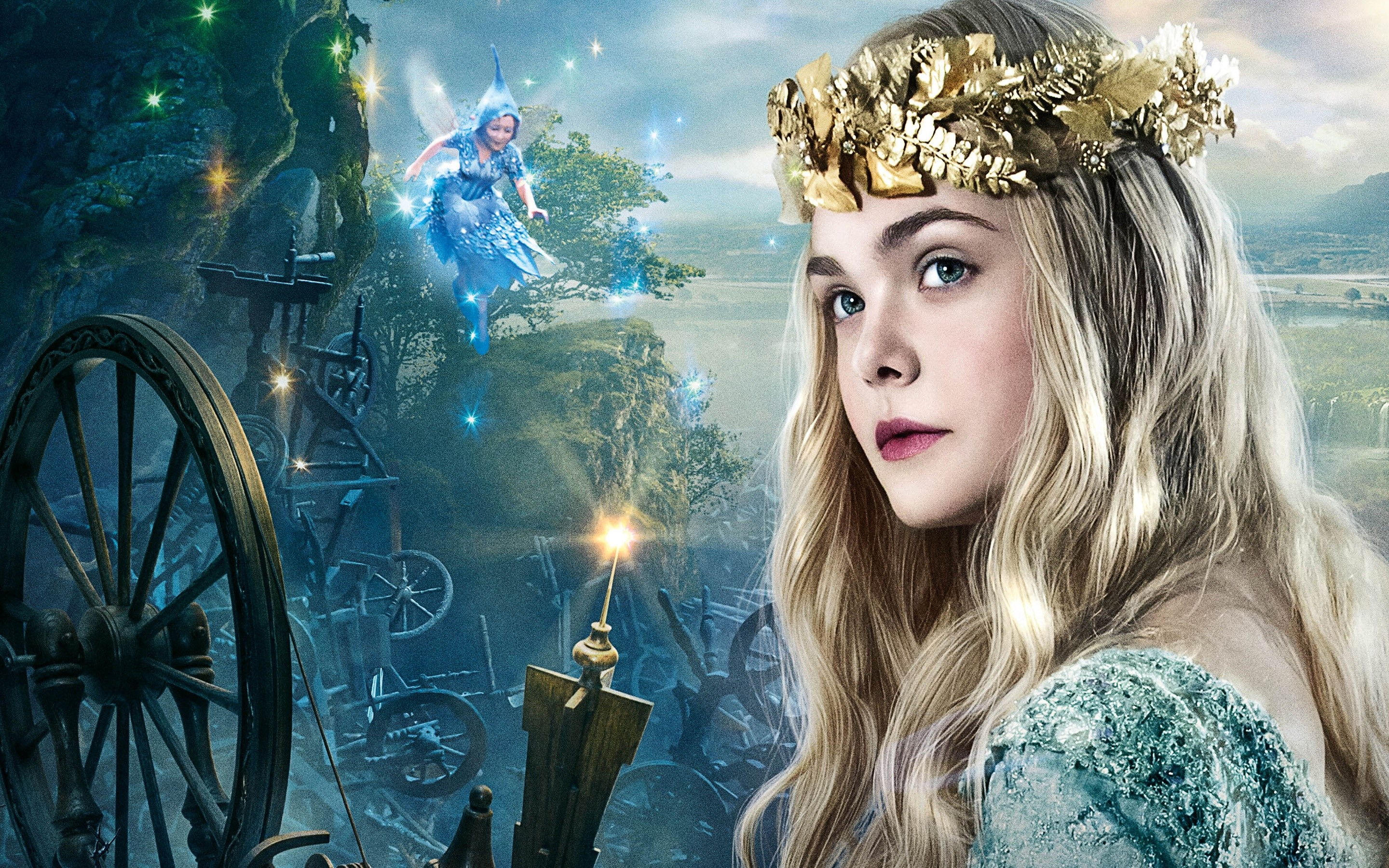 Wallpaper Elle Fanning as Princess Aurora