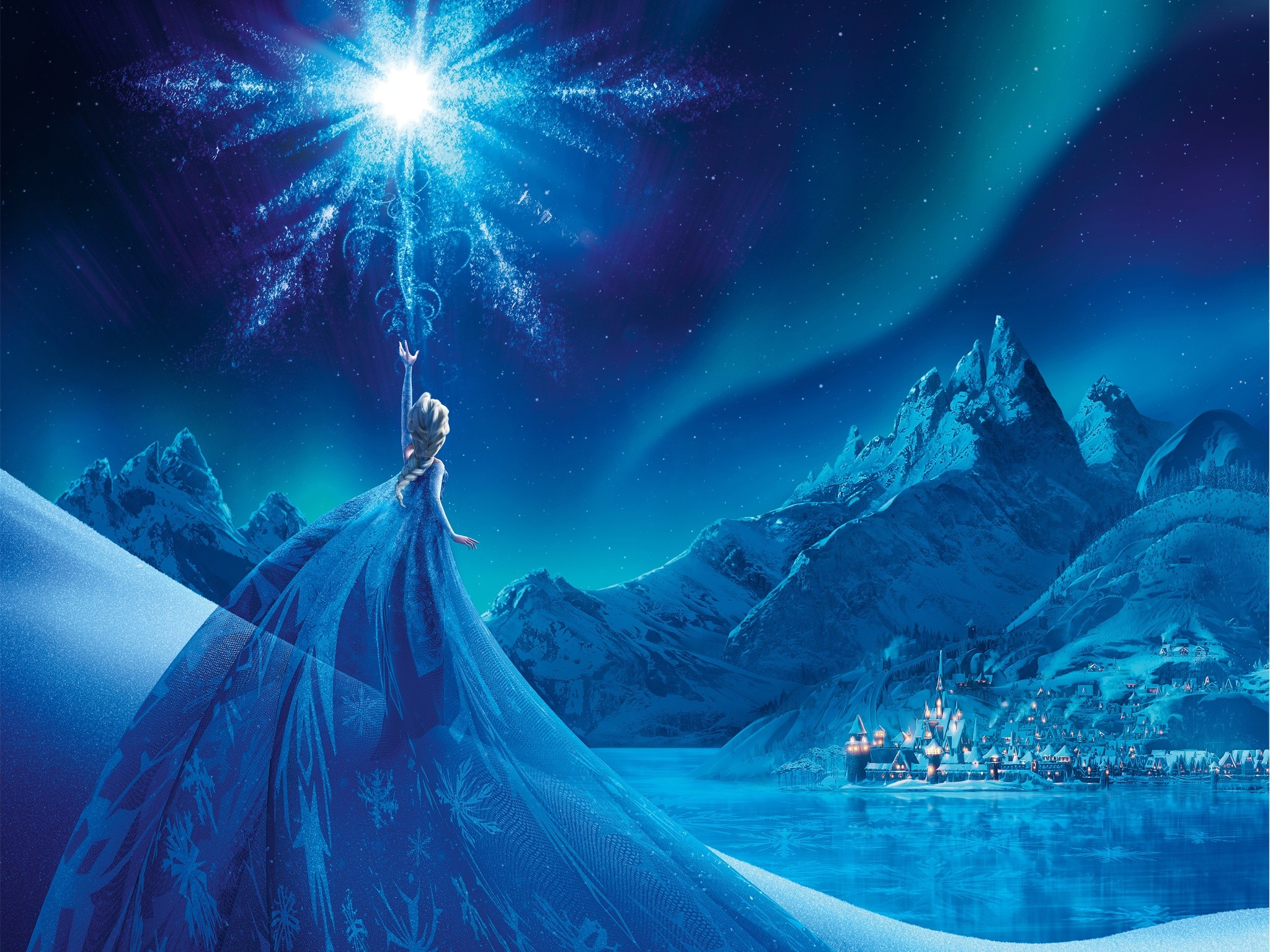 Wallpaper Elsa Queen of ice