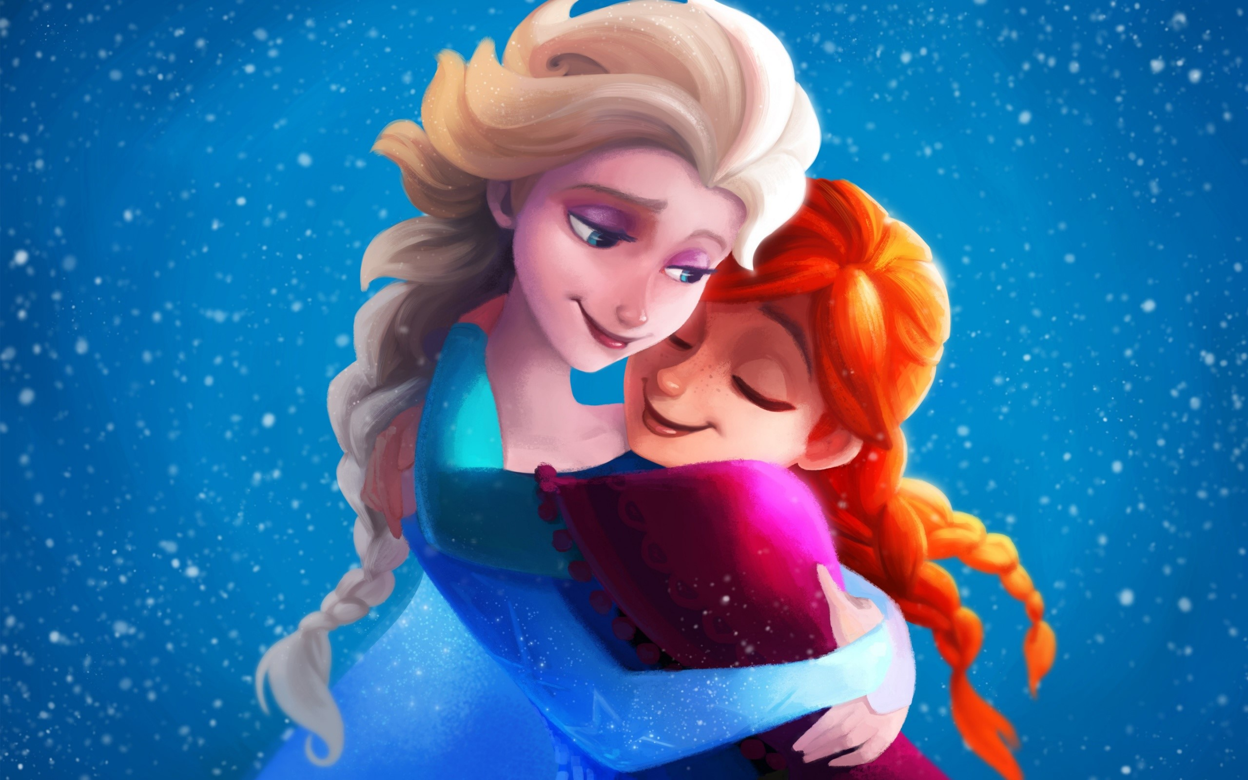 Wallpaper Elsa and Anna from Frozen