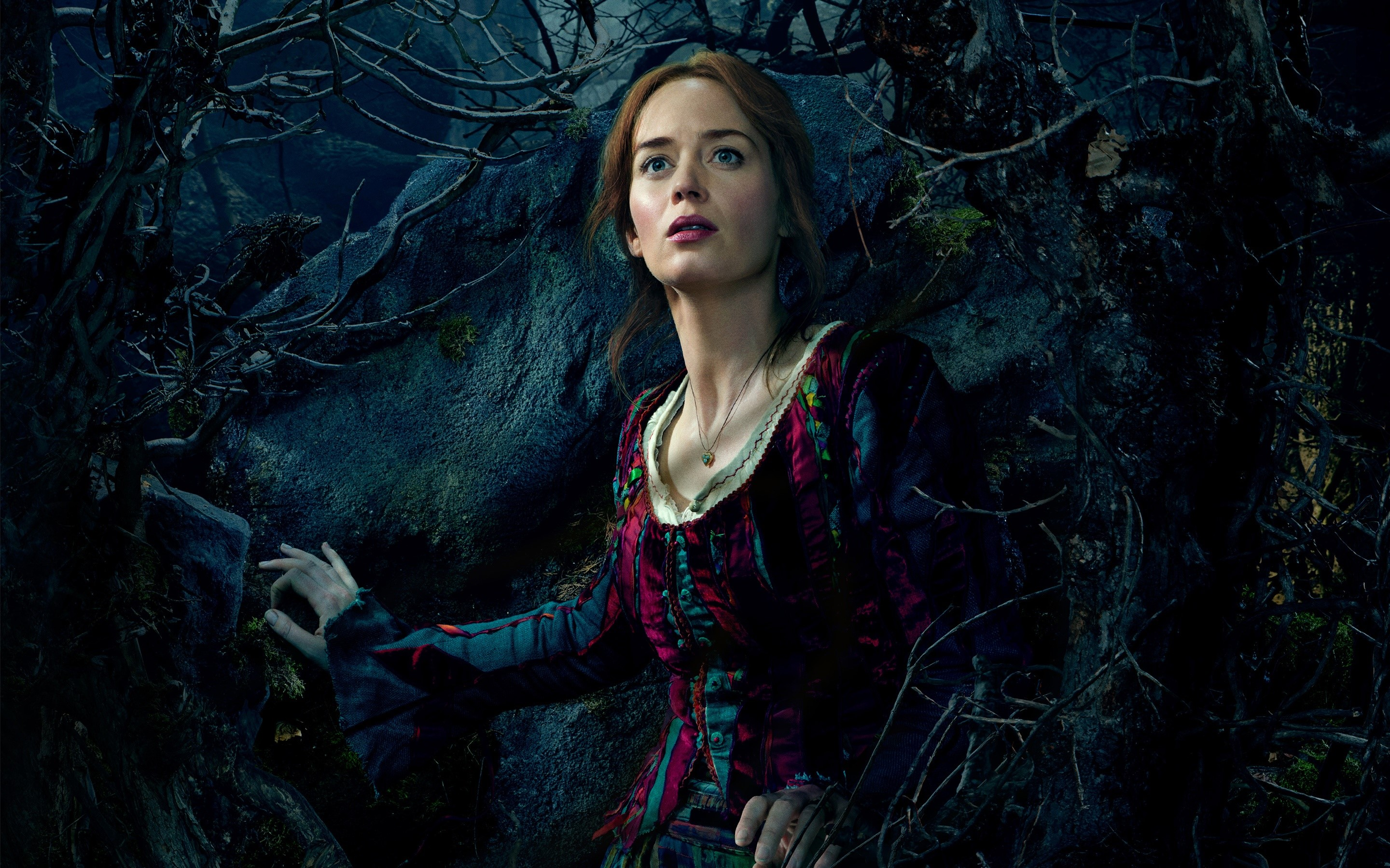 Wallpaper Emily Blunt for the movie In the Forest