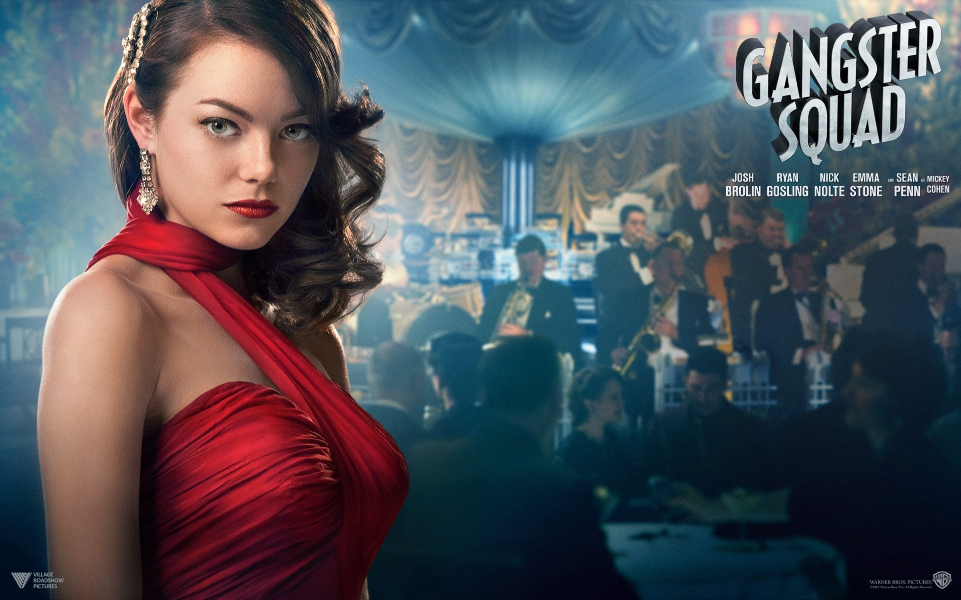 Wallpaper Emma stone in Gangster Squad