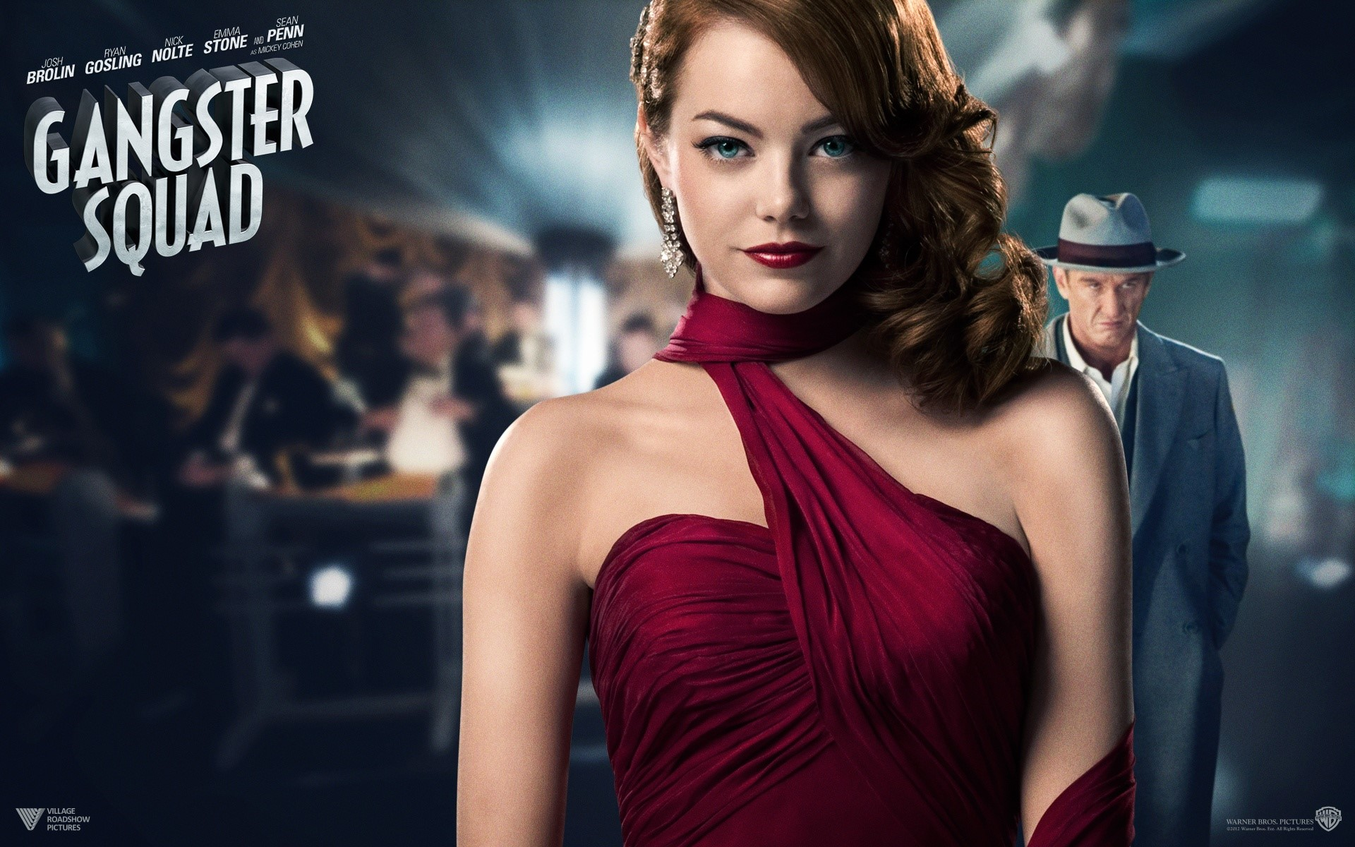Wallpaper Emma Stone for Gangster Squad