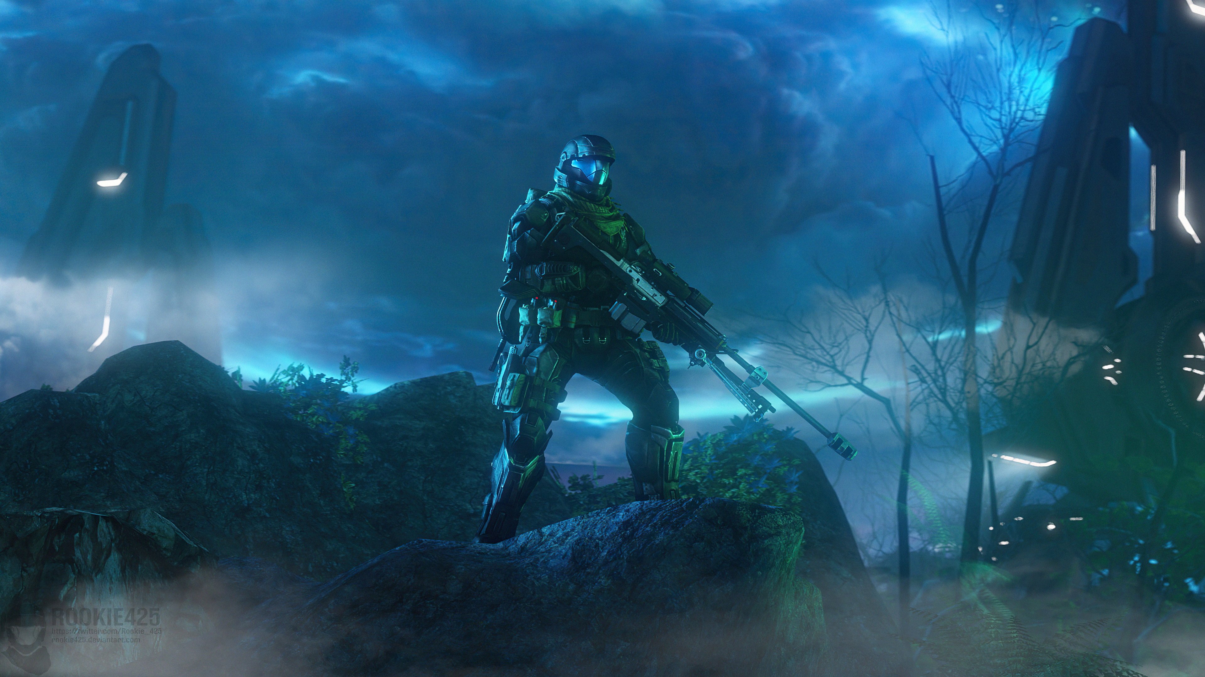 Fondos de pantalla Escena con neblina Halo