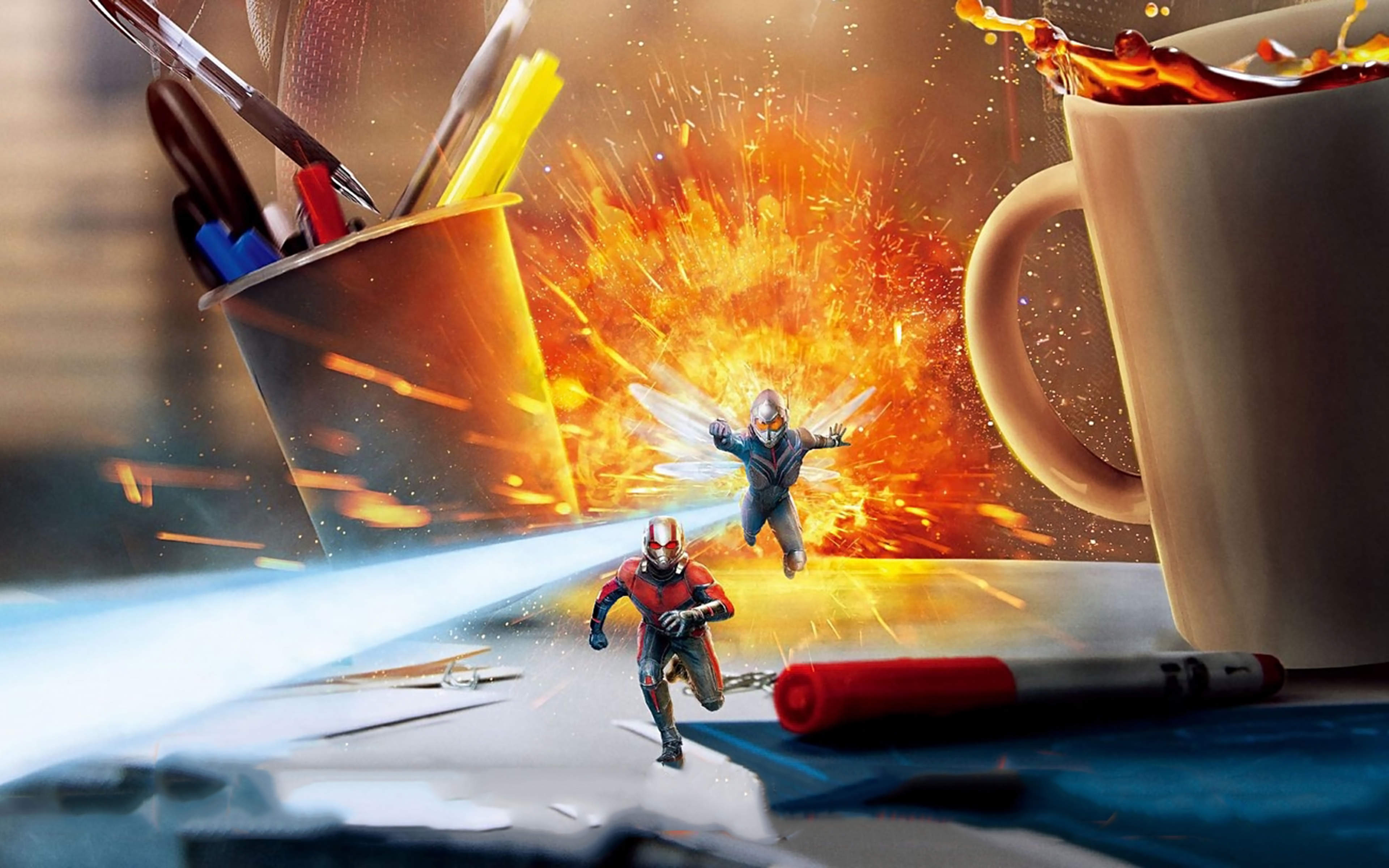 Fondos de pantalla Escena de Ant Man y la avispa