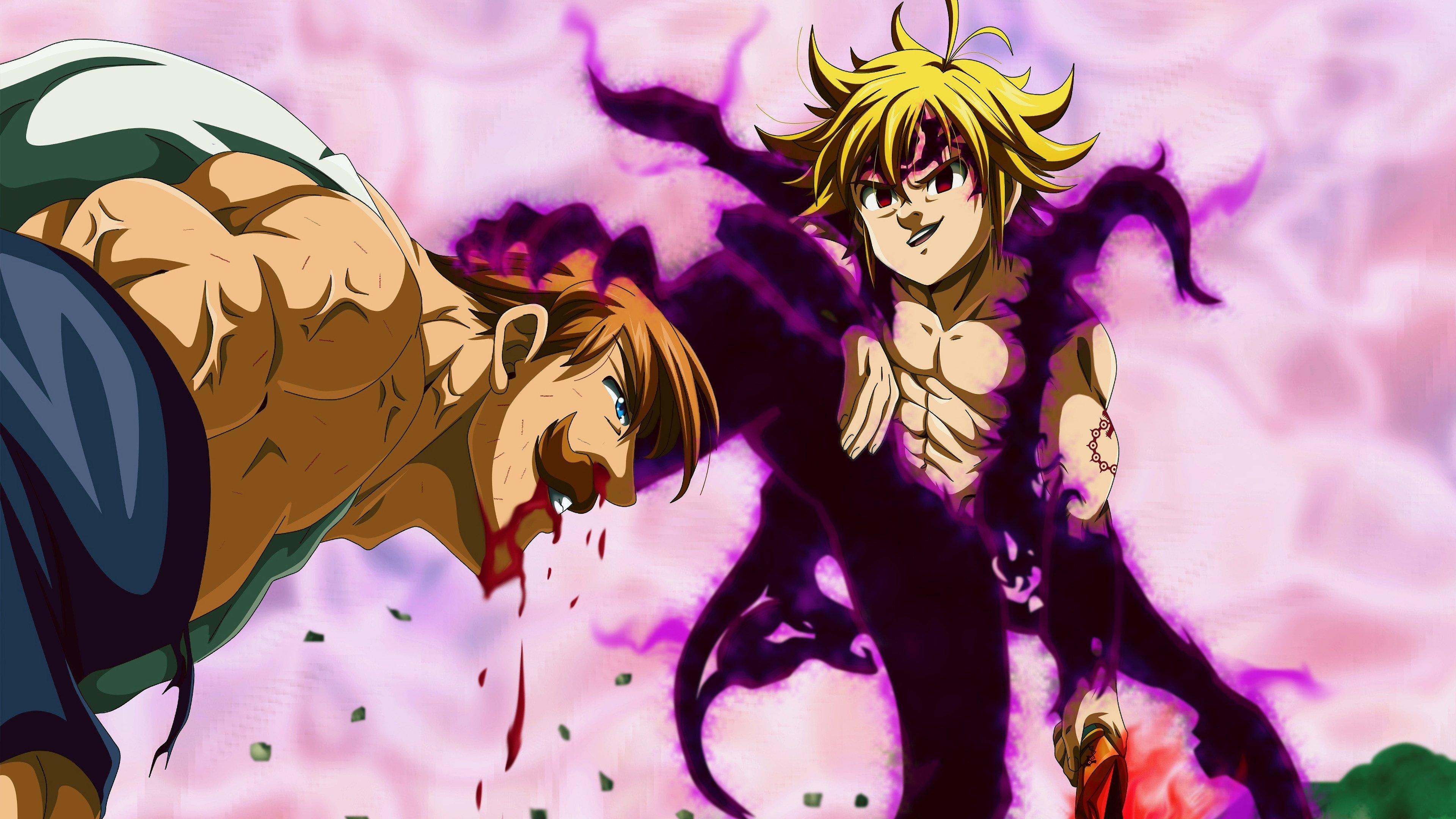 Anime Wallpaper Scene from Seven Deadly Sins