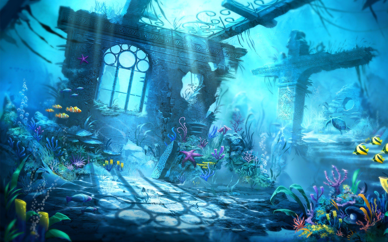 Fondos de pantalla Escena submarina