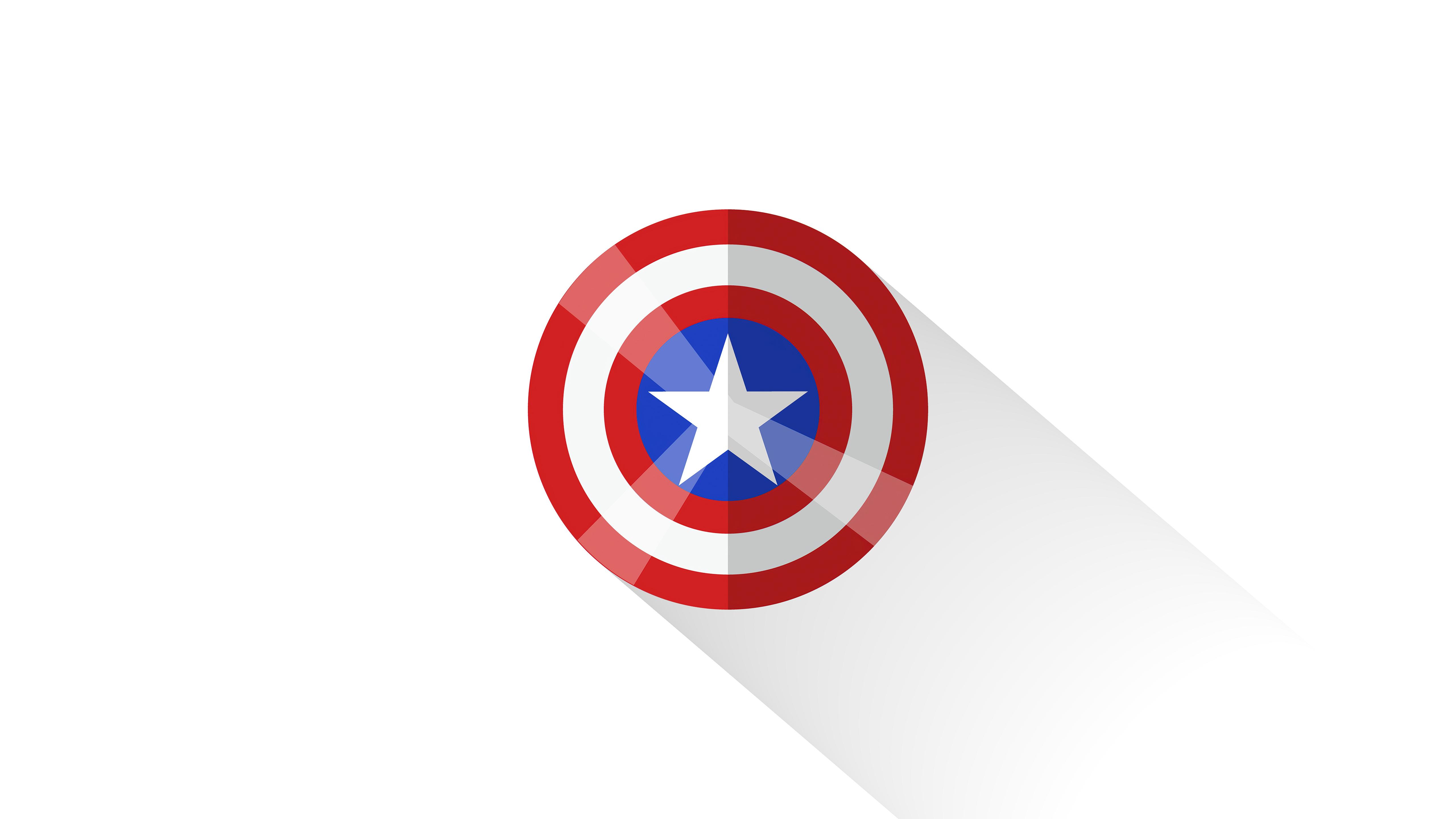 Fondos de pantalla Escudo del Capitán America Minimalista