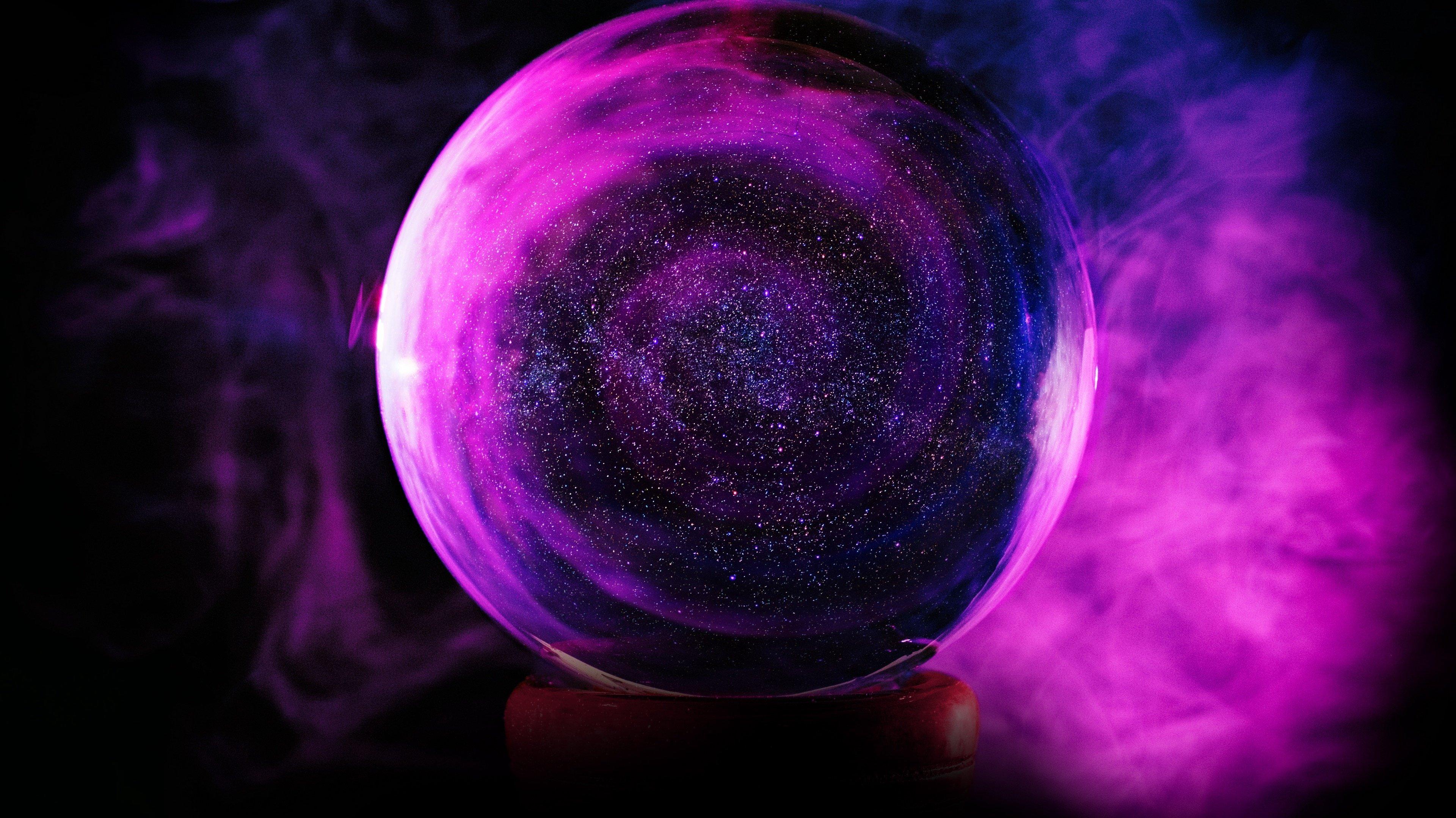 Fondos de pantalla Esfera de cristal rosa