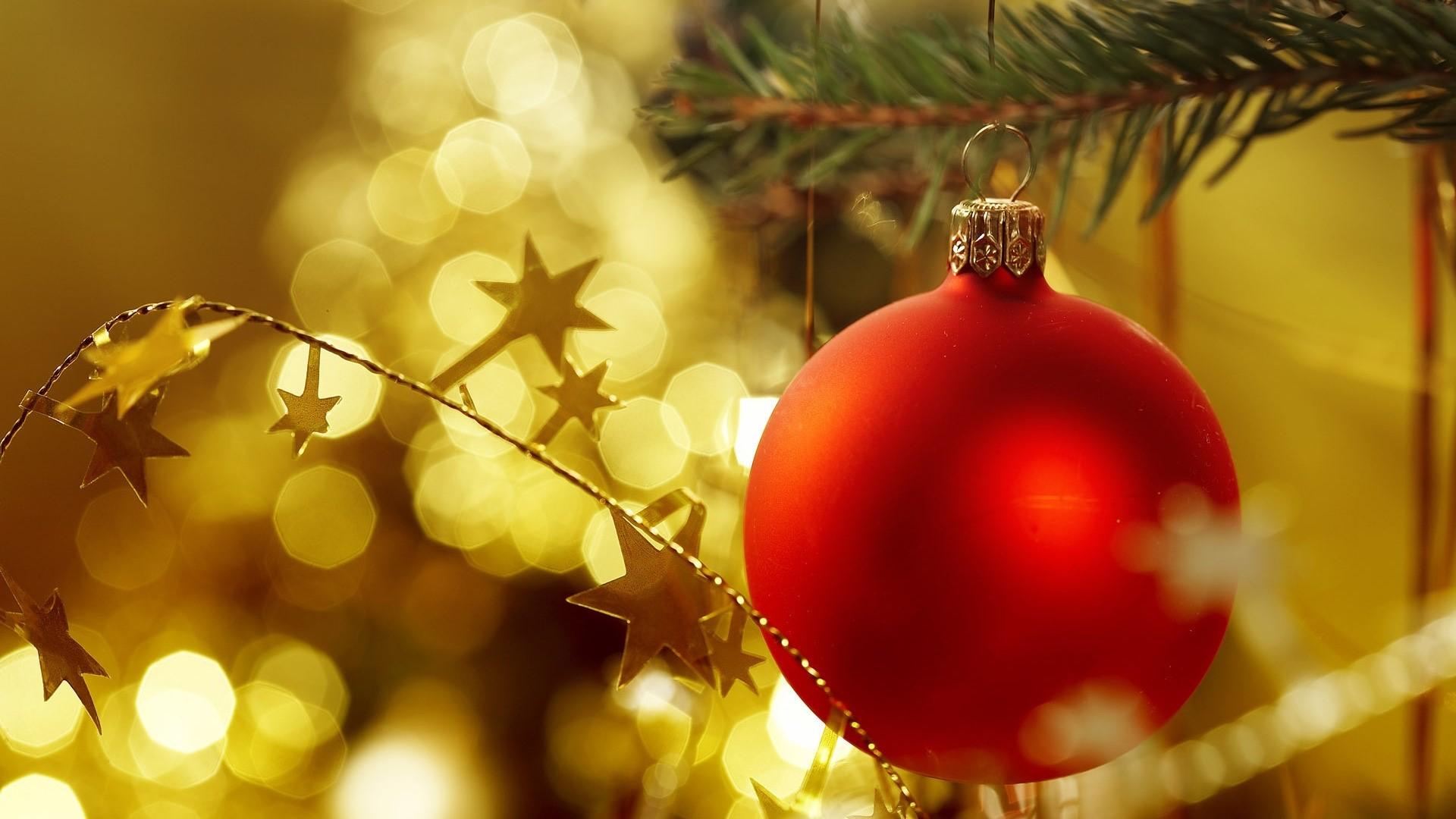 Fondo de pantalla de Esfera de Navidad con estrellas Imágenes