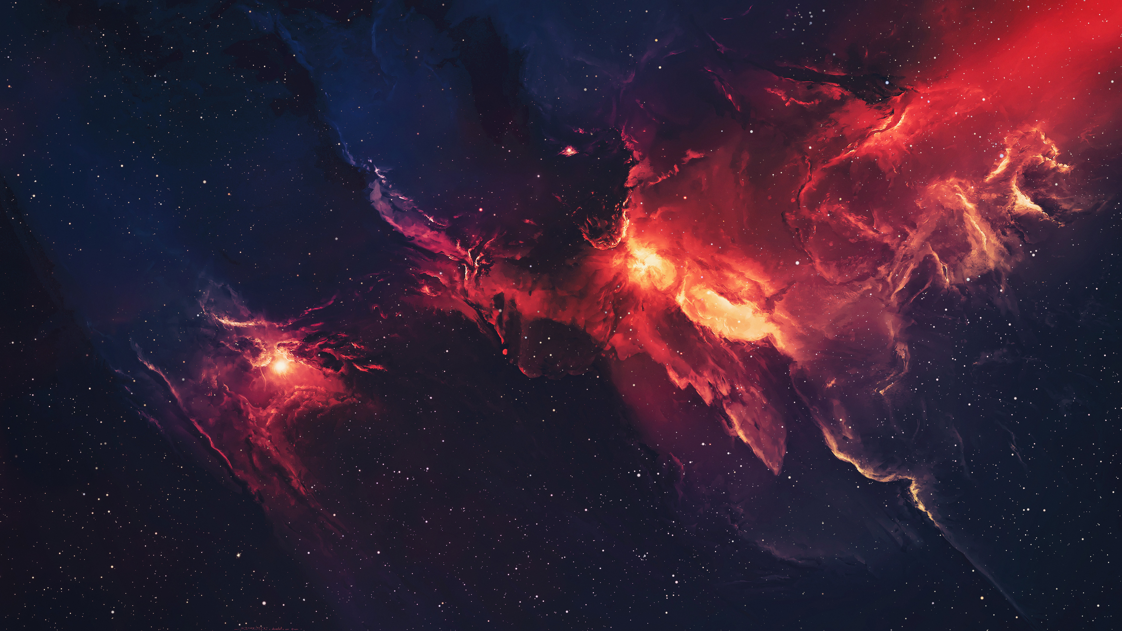 Space Stars Universe Nebula Wallpaper 4k Ultra Hd Id3337