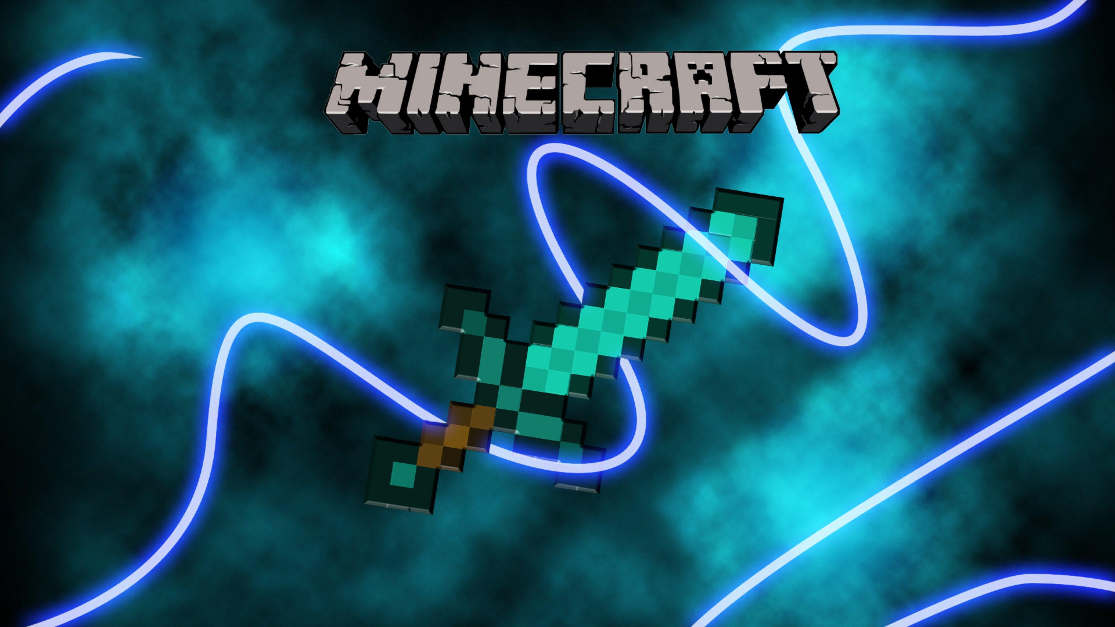 Diamond Sword Minecraft Wallpaper 4k Ultra Hd Id 3412