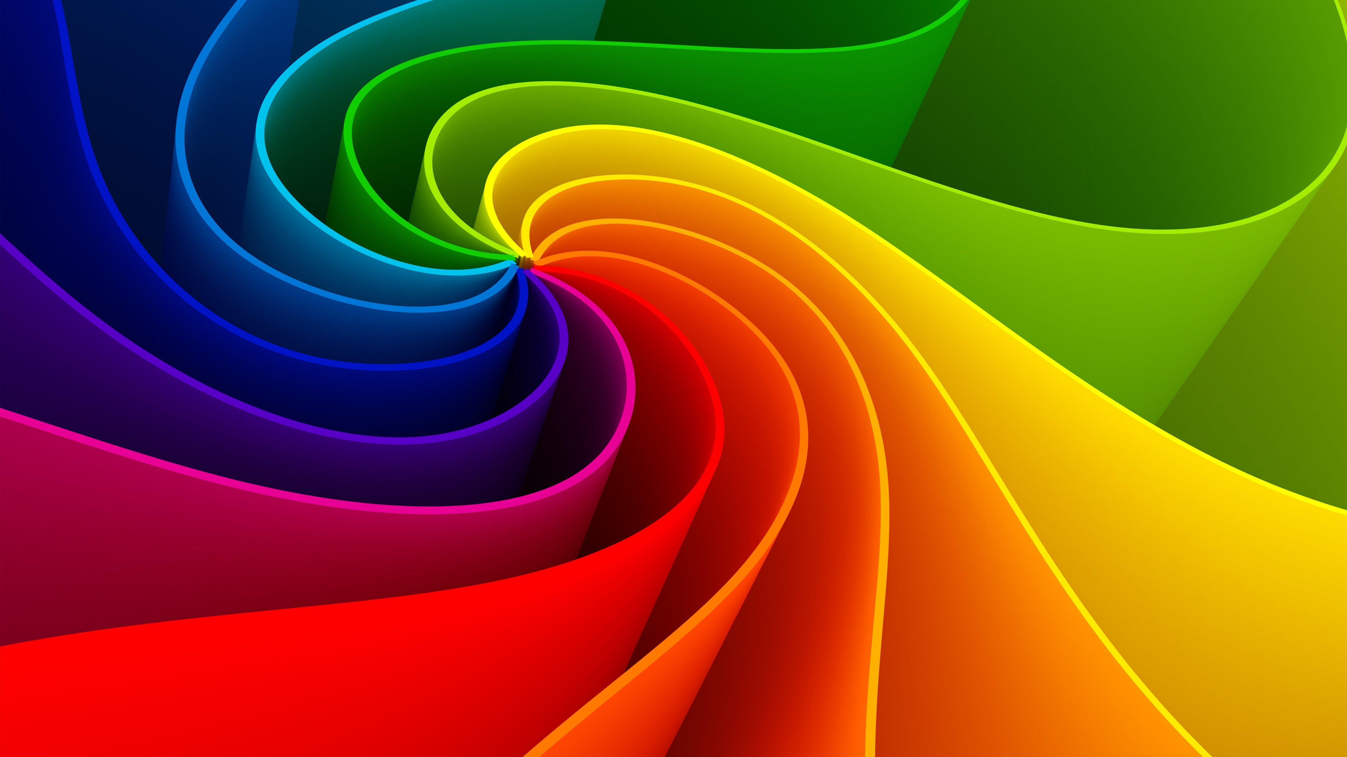 Fondos de pantalla Espirales 3d de colores