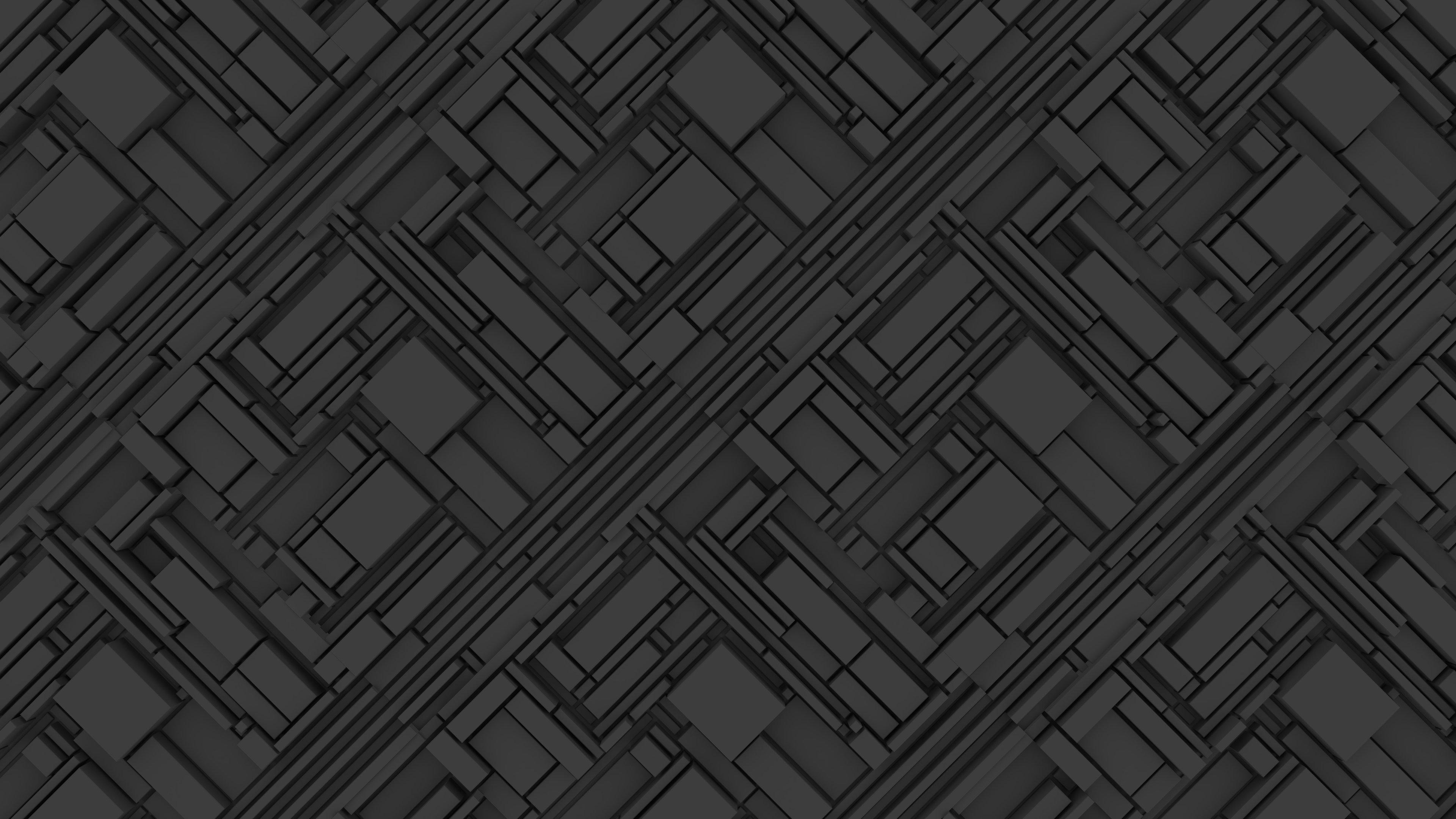 Fondos de pantalla Estructura abstracta 3D gris oscuro