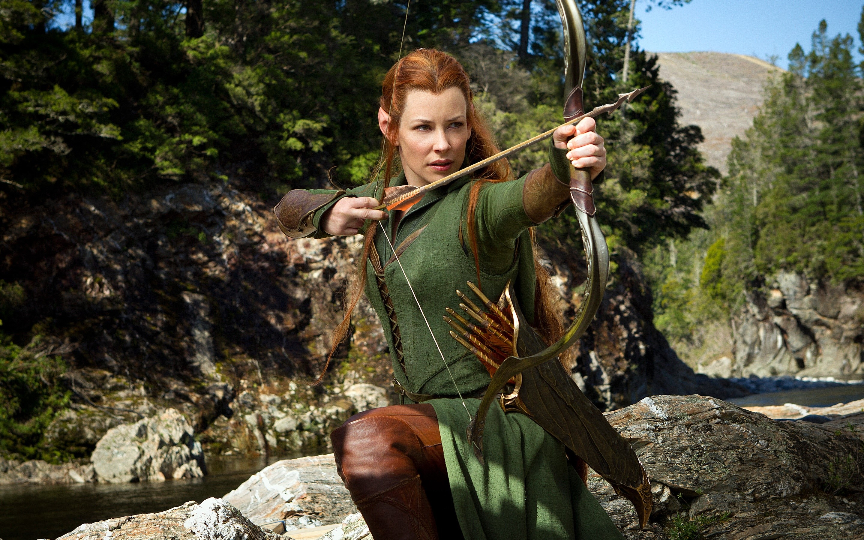Wallpaper Evangeline Lilly as Tauriel