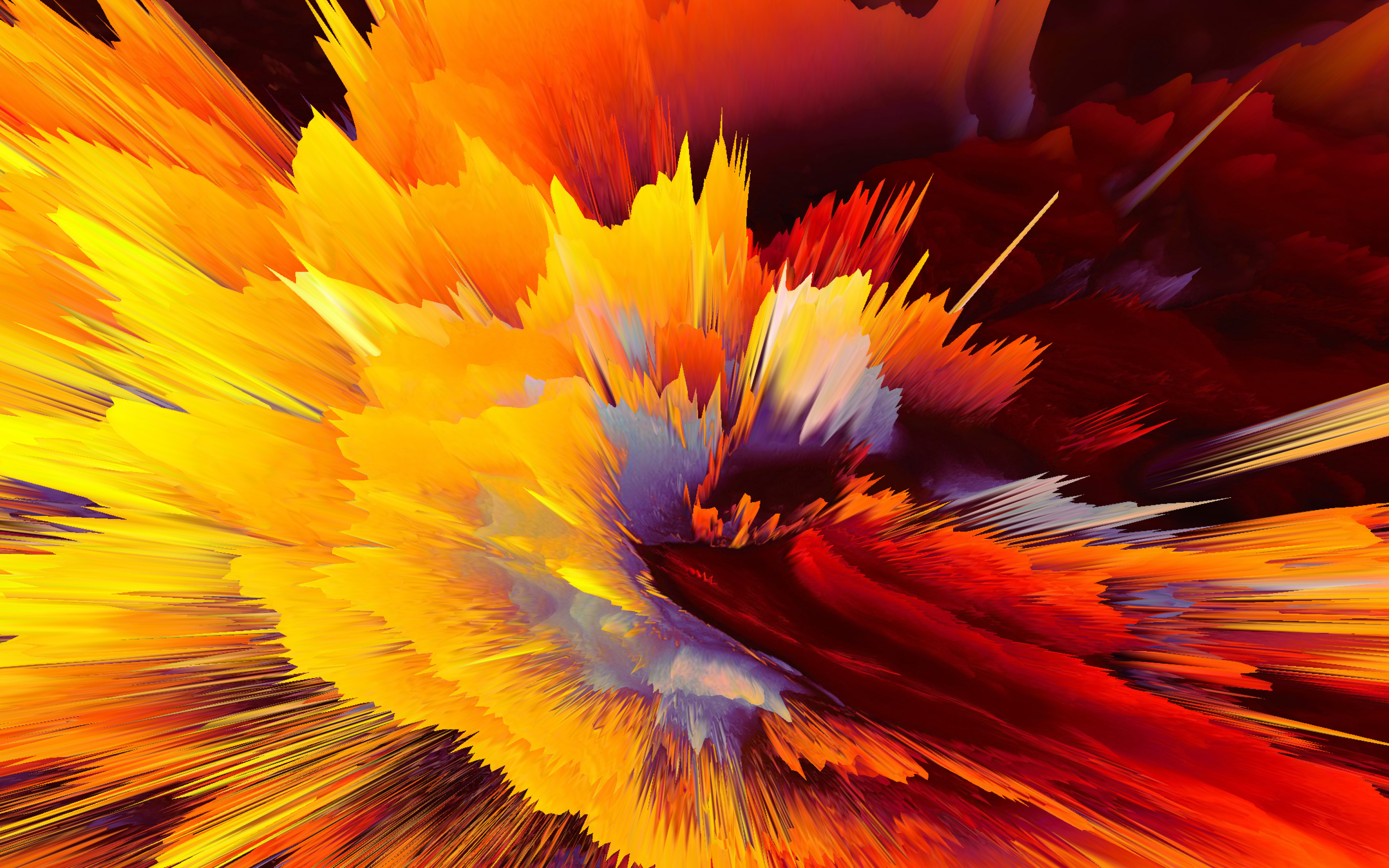 Fondos de pantalla Explosión de colores abstracta