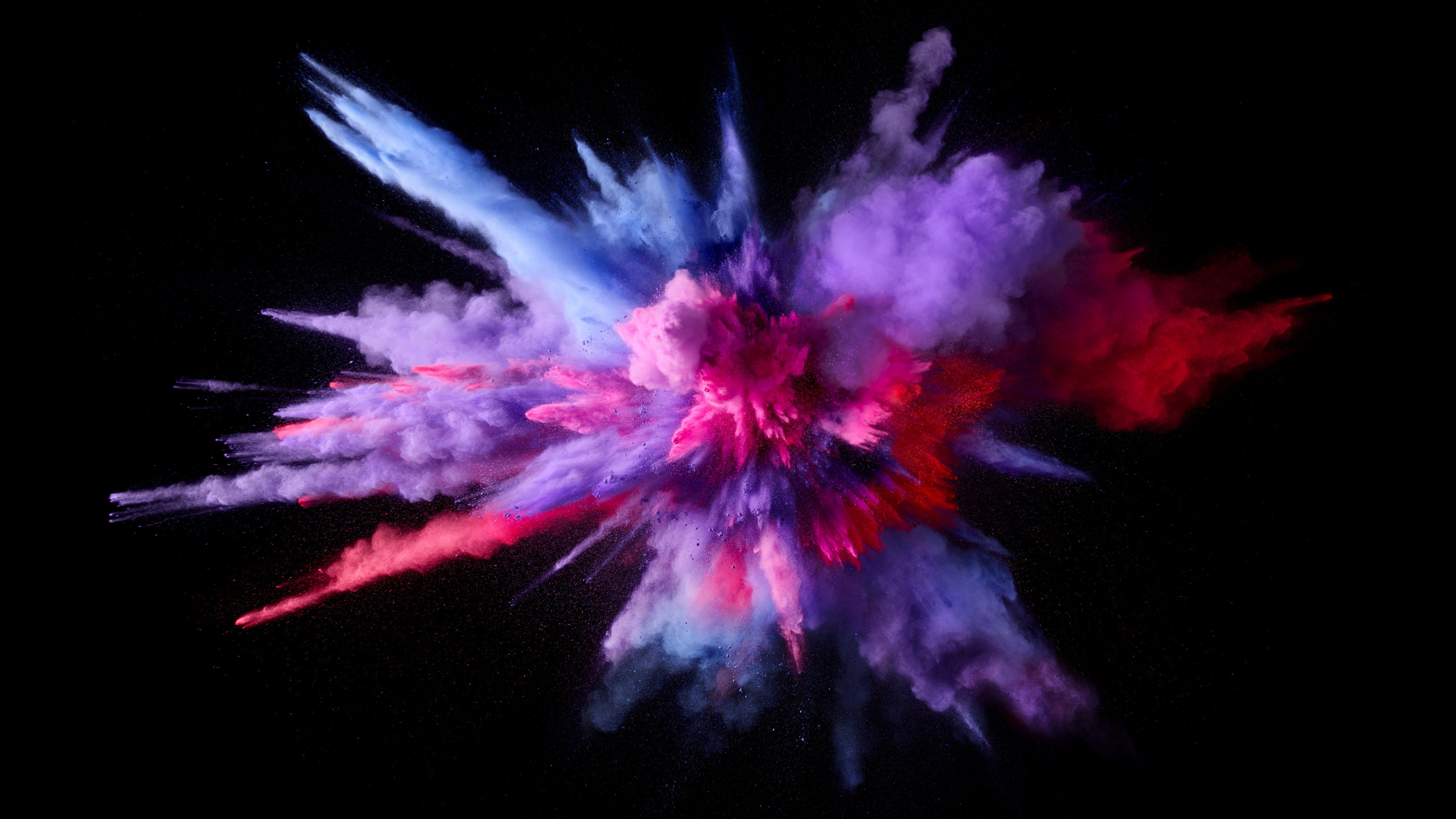 Fondos de pantalla Explosión polvo y humo de colores