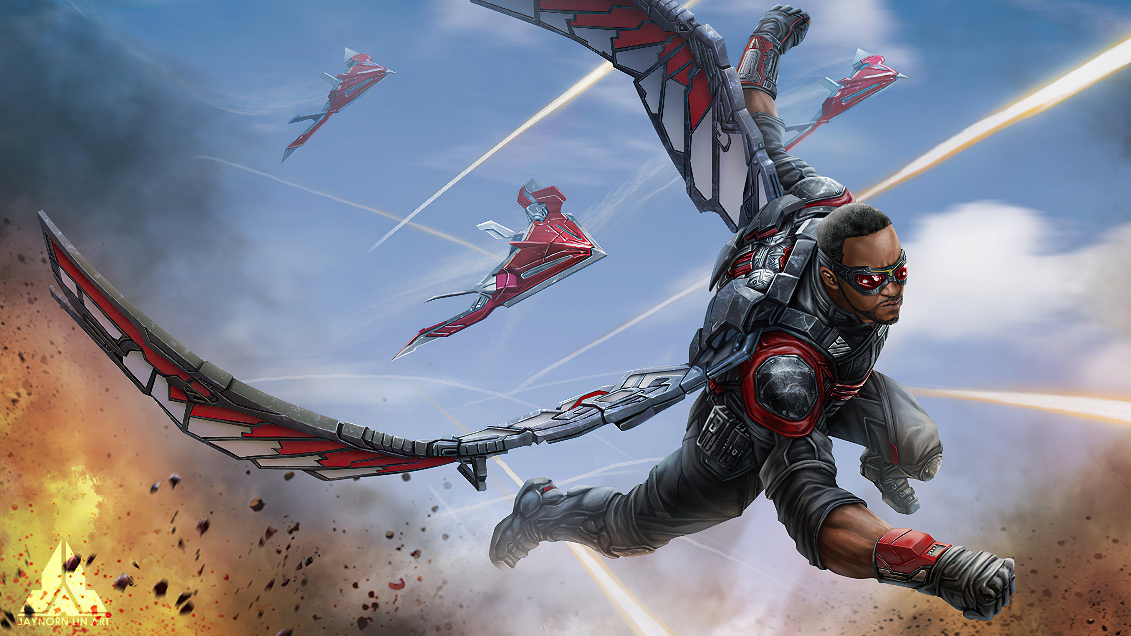 Fondos de pantalla Falcon Avengers Infinity War