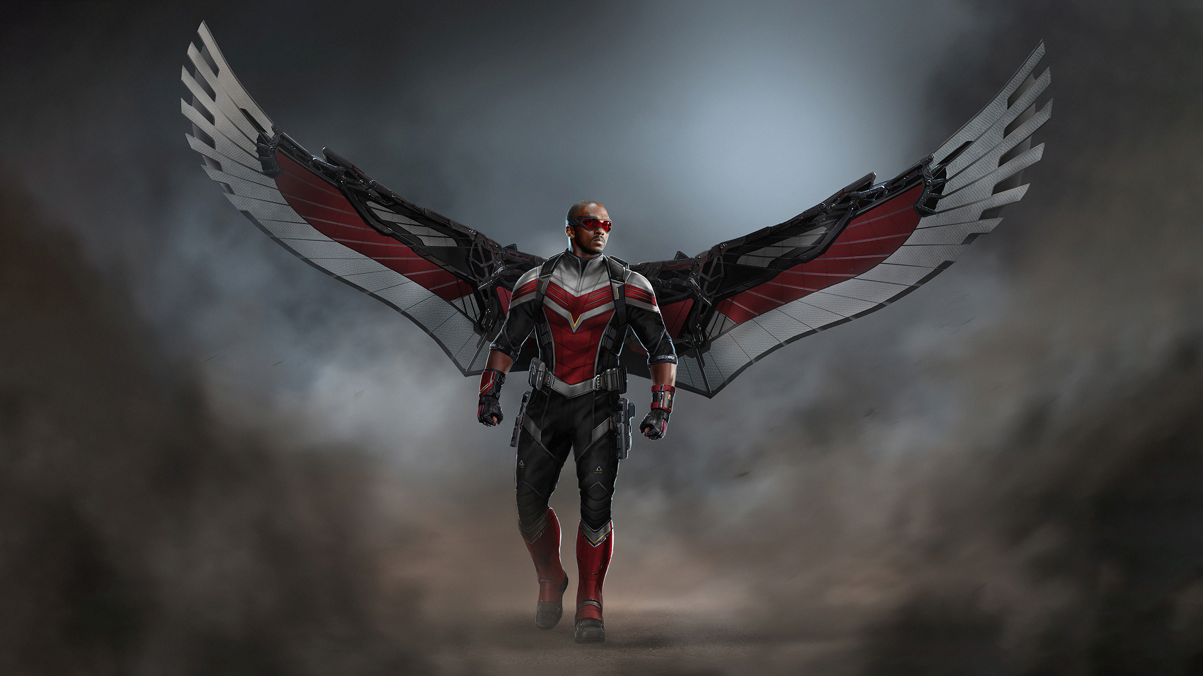Wallpaper Falcon with wings