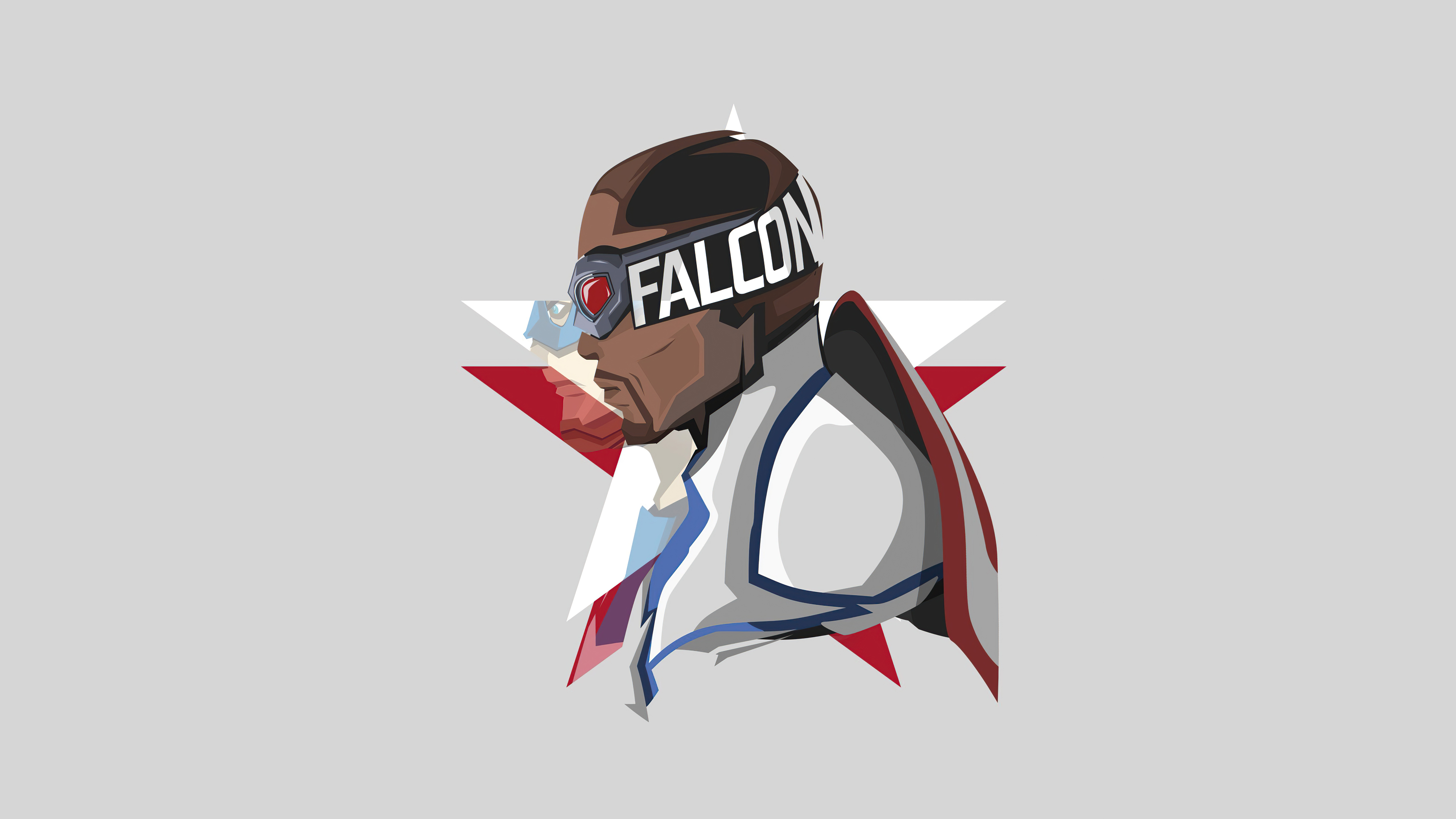 Wallpaper The Falcon and the winter soldier Minimalist style