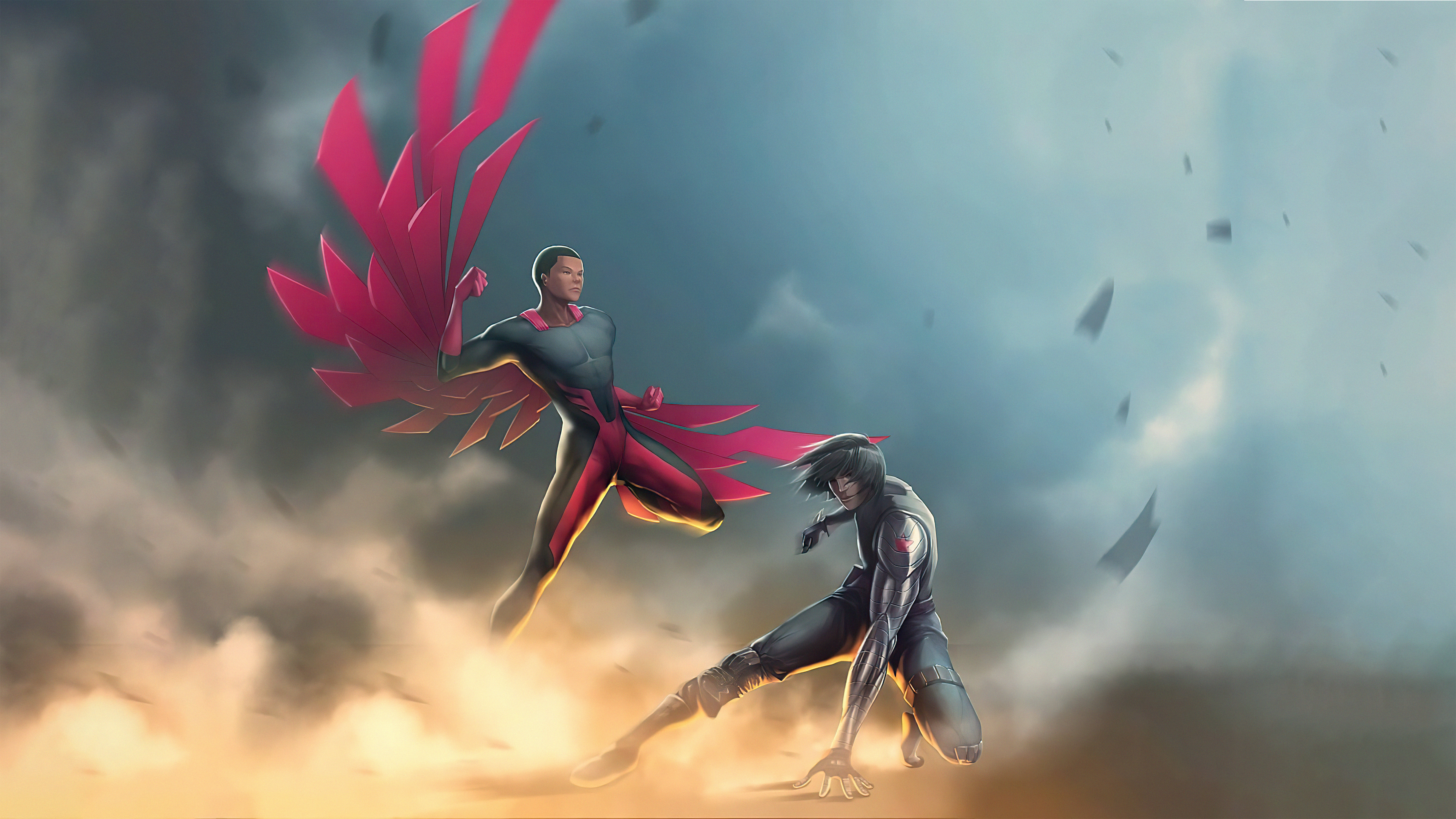 Wallpaper Falcon and the winter soldier