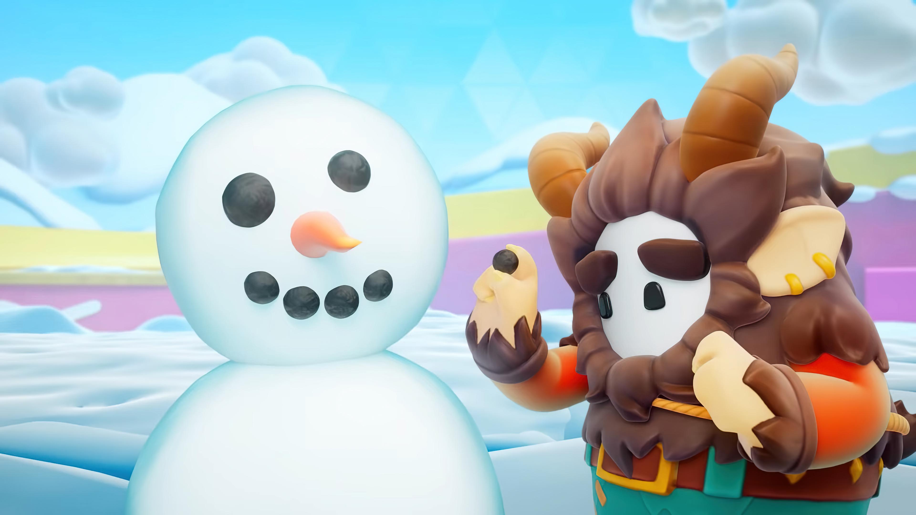 Fondos de pantalla Fall guys hombre de nieve Temporada 3