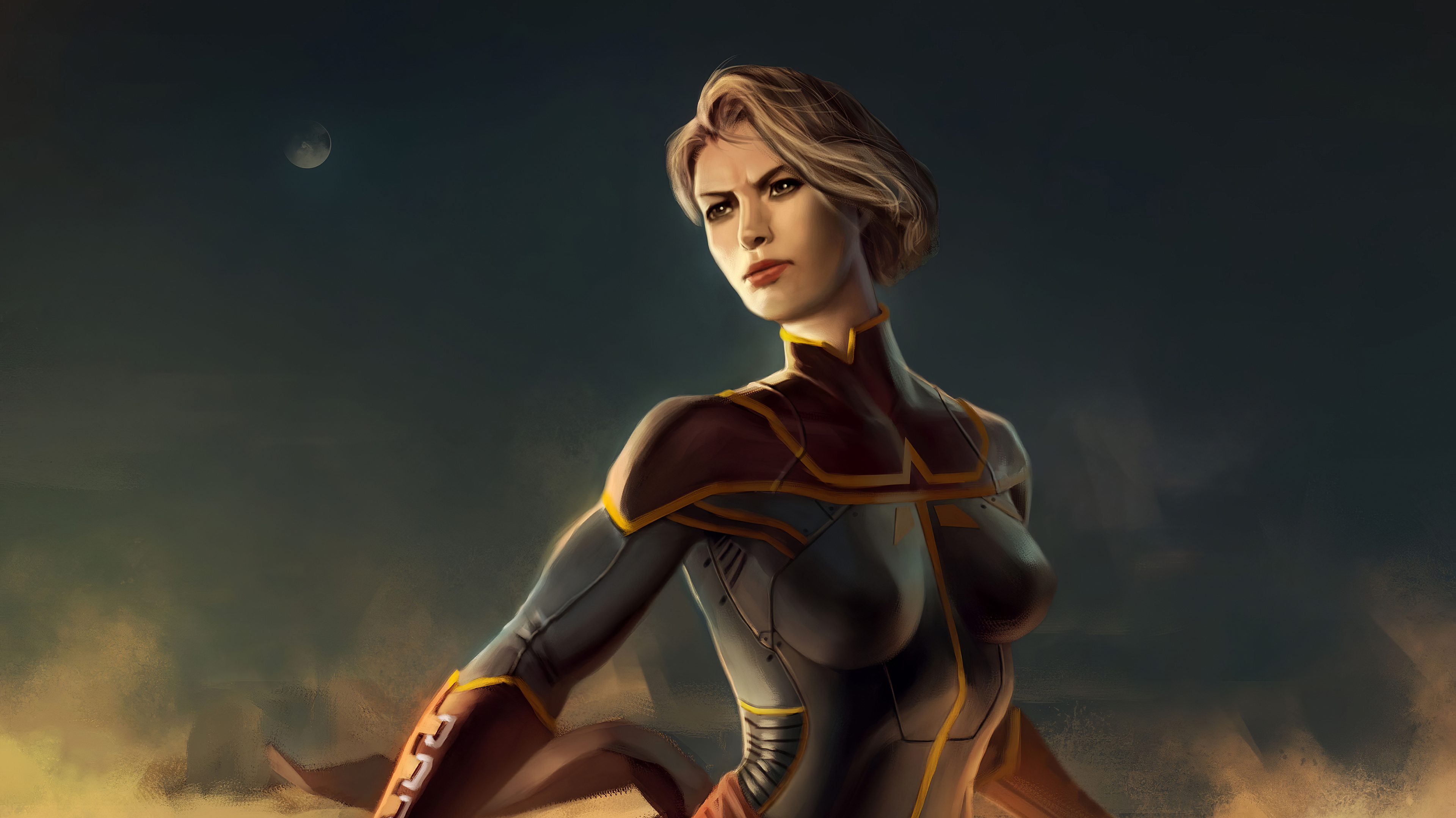 Wallpaper Captain Marvel Fanart