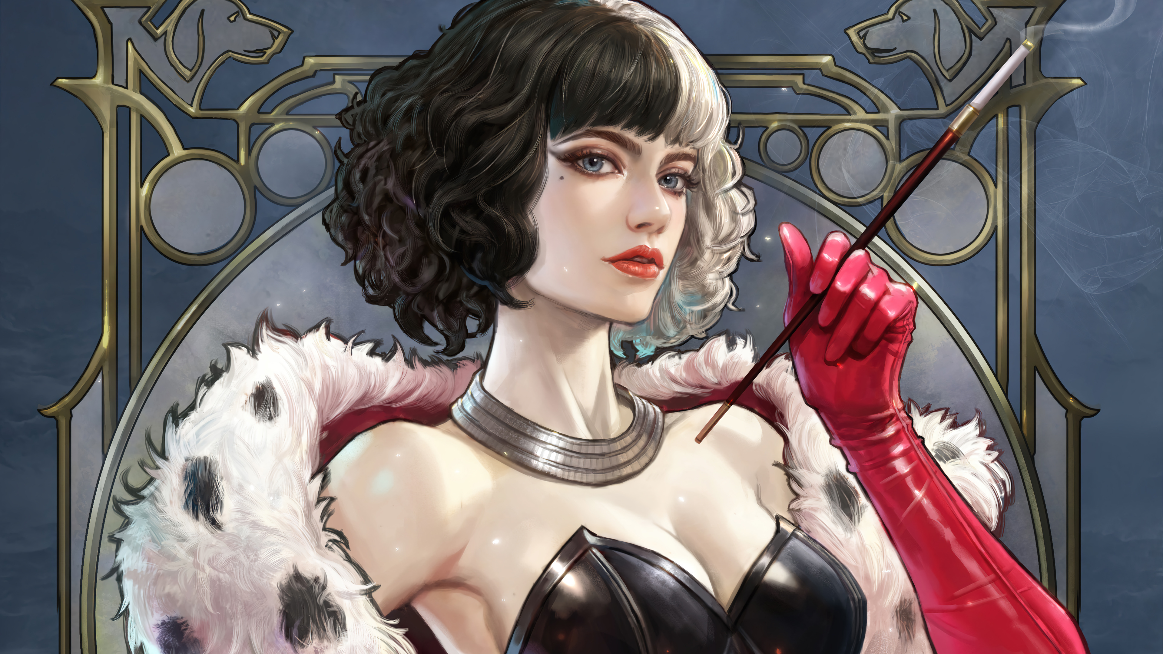 Fondos de pantalla Fanart de Emma Stone como Cruella