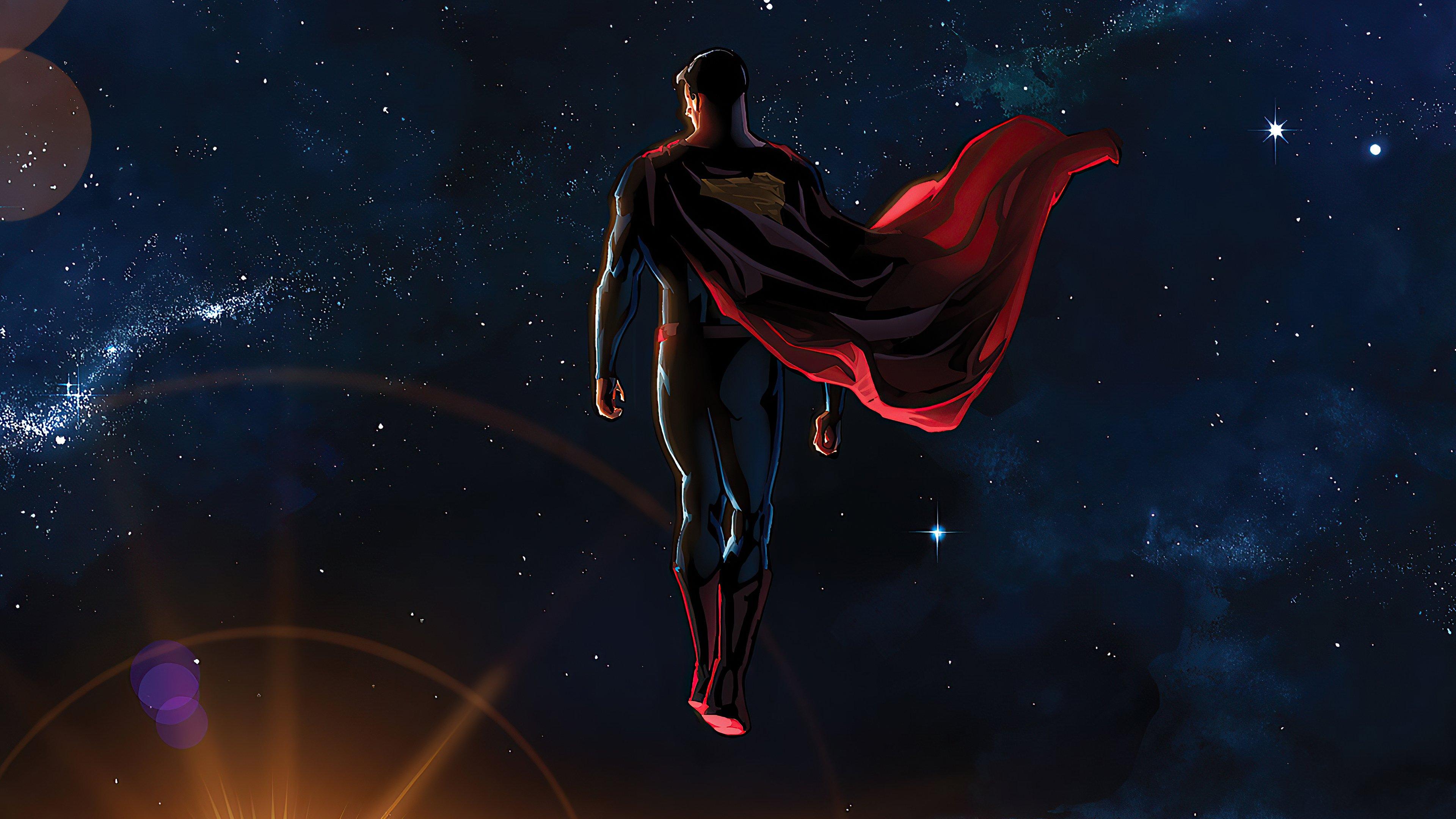 Wallpaper Superman in space Fanart