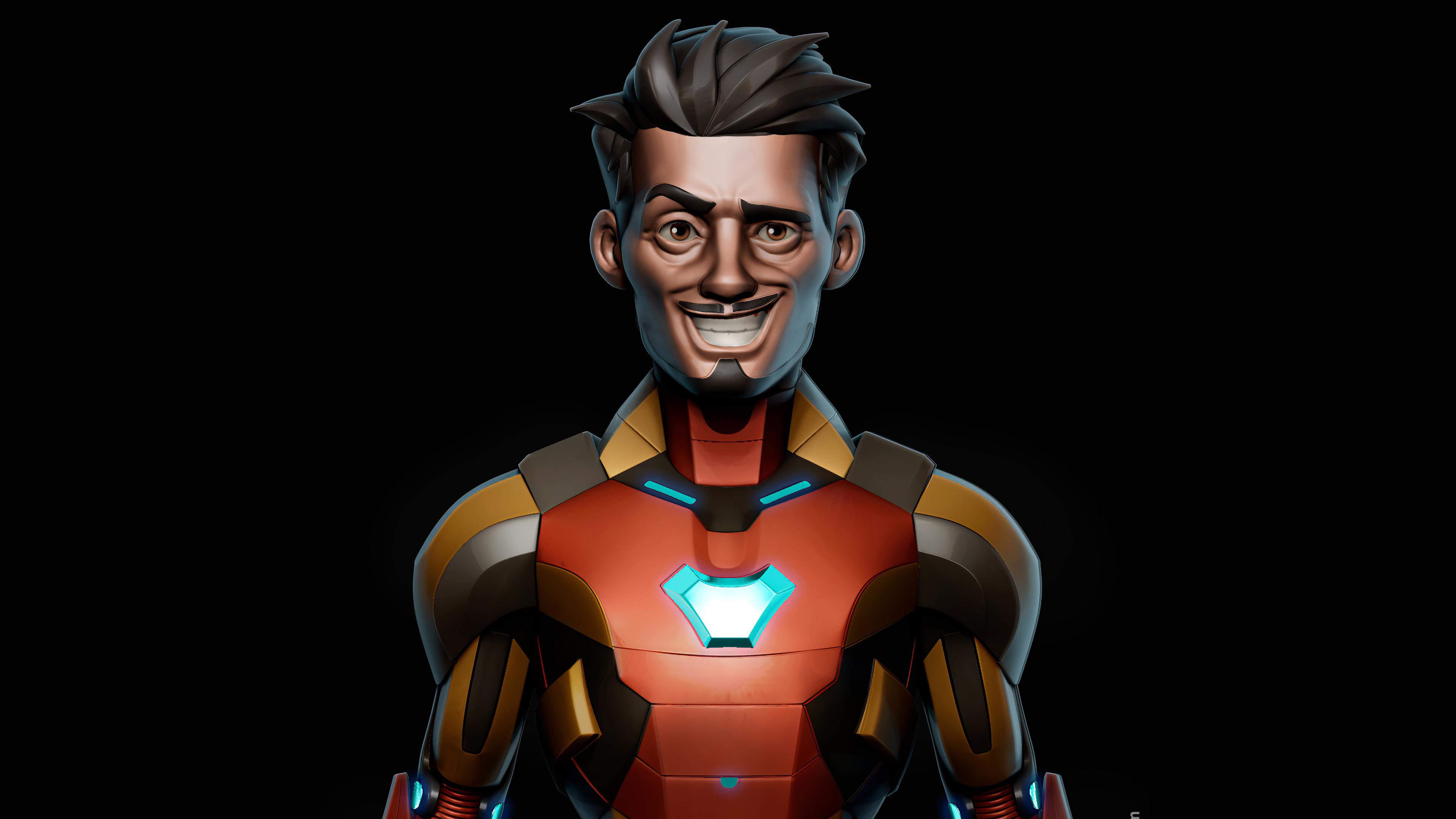 Fondos de pantalla Fanart Iron Man sonriendo