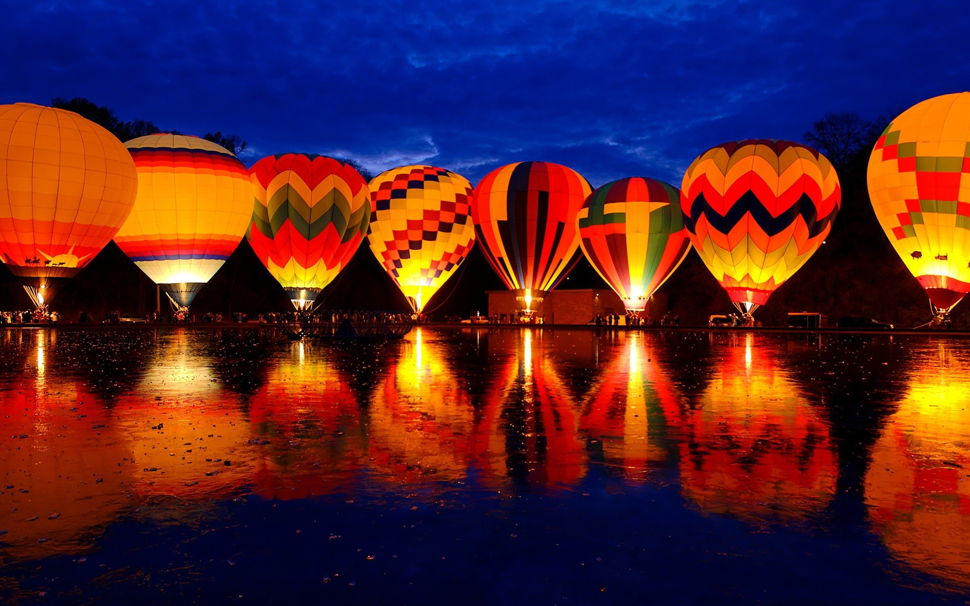 Wallpaper Festival of hot air balloons
