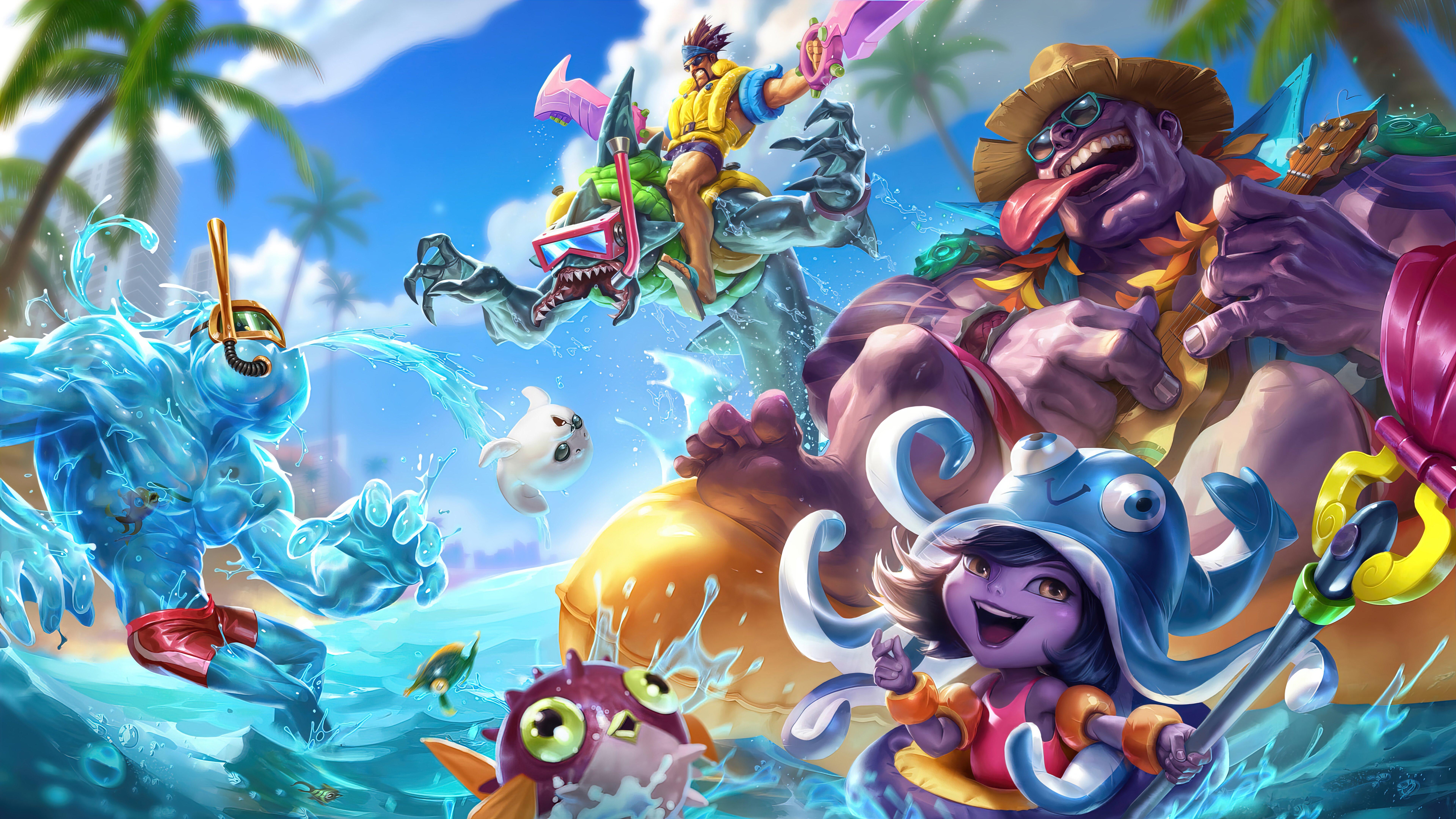 Fondos de pantalla Fiesta en la piscina League of Legends