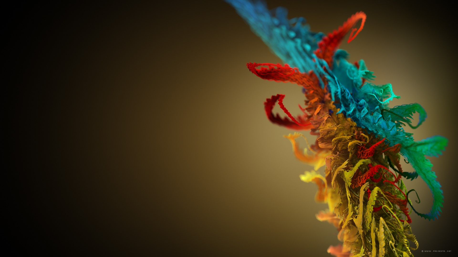 Wallpaper Textured 3D figure of colors