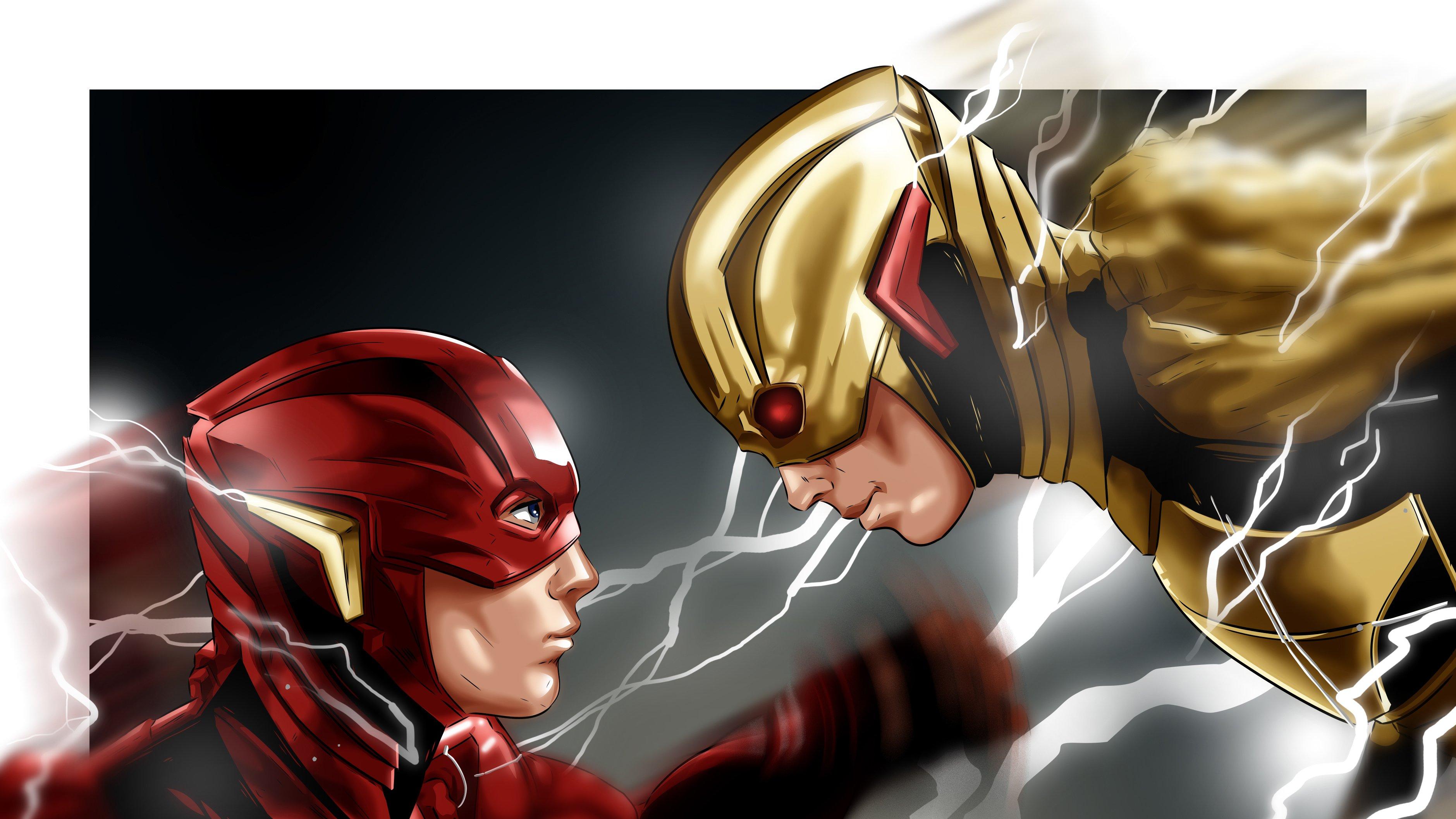 Fondos de pantalla Flash Reverso contra Flash